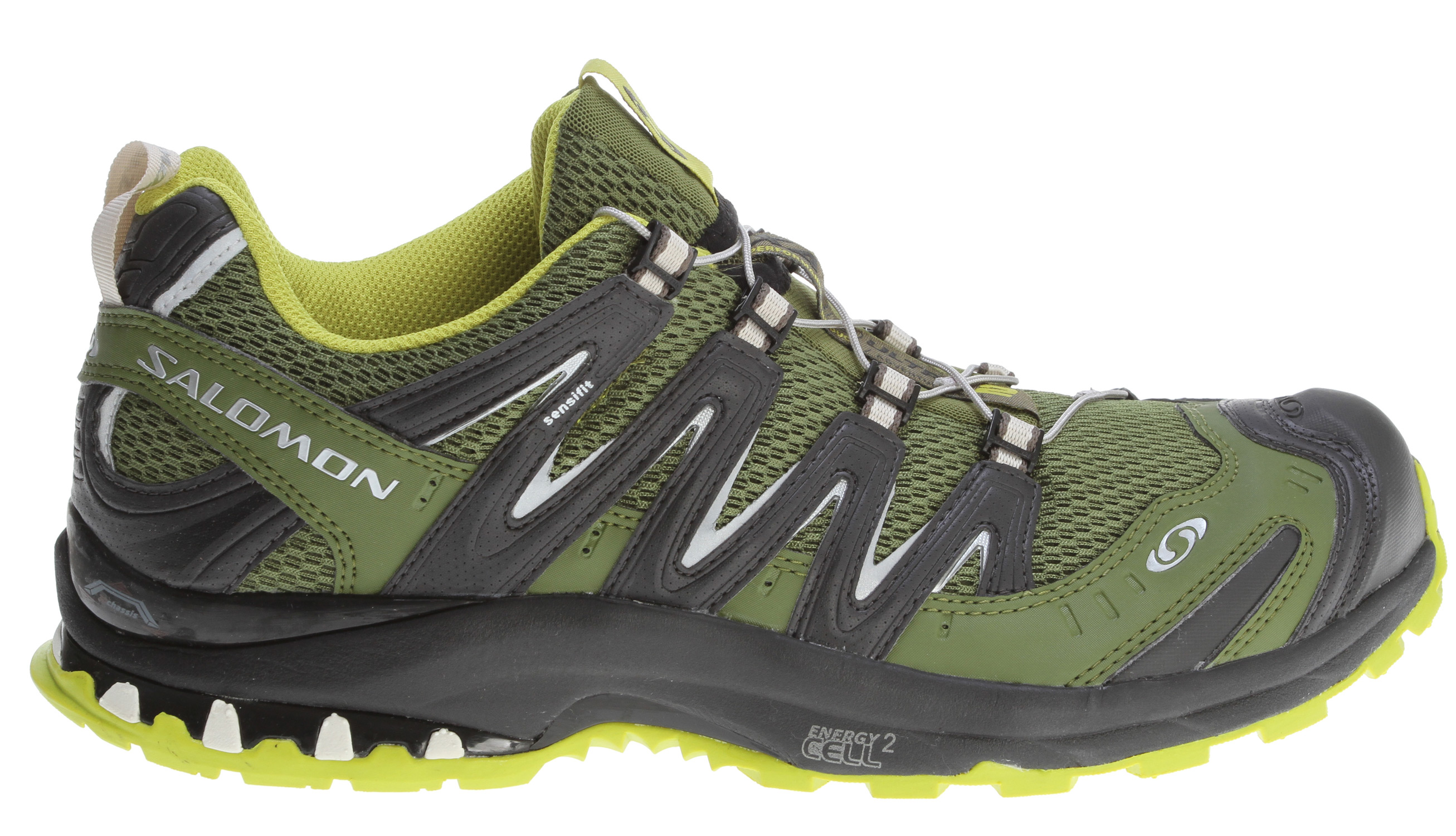 Camp and Hike Light, durable and stable on the most demanding trails, the XA Pro 3D Ultra 2 has a streamlined profile, improved durability and aggressive lugged outsole geometry.Key Features of the Salomon XA Pro 3D Ultra 2 Hiking Shoes: Weight: 13.8oz Quick drying breathable mesh Lace pocket Sensifit Asymmetrical lacing Protective rubber toe cap Mud Guard Quicklace Optimized fit for women Non marking running Contagrip 3D Advanced Chassis Molded EVA sockliner EVA shaped footbed Ortholite Molded EVA midsole Energy Cell 2 midsole Pronation control Midsole height: 11mm/21mm - $90.95