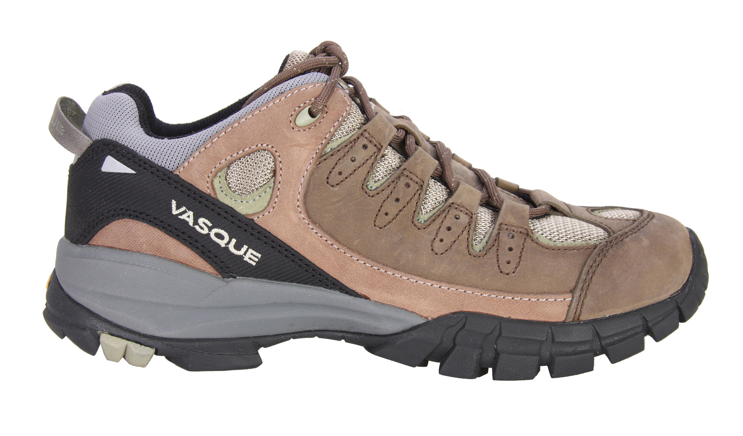 Camp and Hike This agile performer has tenacious trip thanks to the Vibram Ananasi sole and the athletic fit that will have you coming back for more. Vasque's Nubuck leather and airmesh upper provide the supple comfort and breathability that make this hiking shoe their #1 crossover seller.Key Features of the Vasque Mantra Hiking Shoes: Weight: 1lb. 8 oz. (680g) Outsole: Vibram Ananasi Last: Perpetuum Midsole: Molded EVA - $59.95