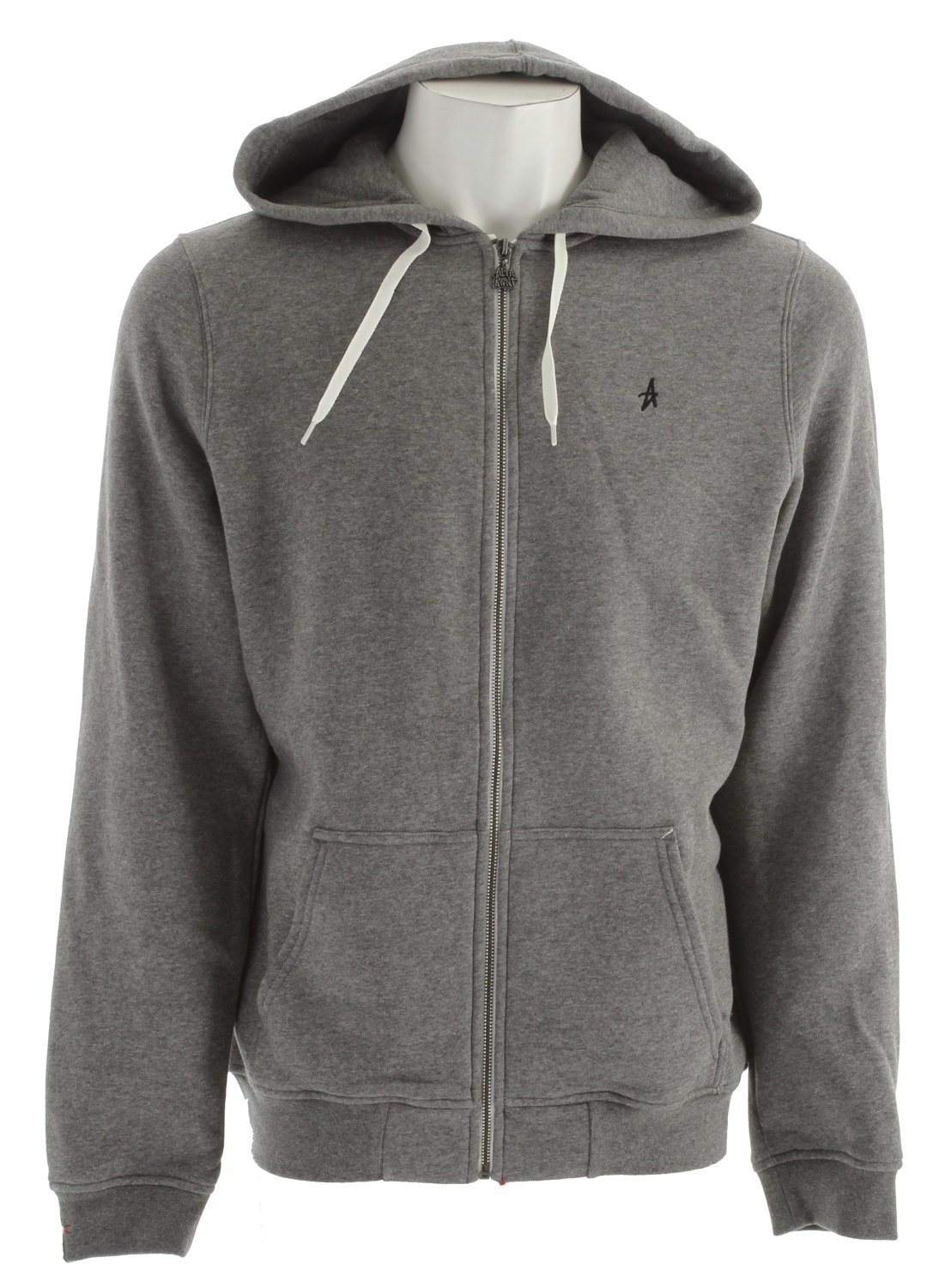 "Key Features of the Altamont Basic Zip Hoodie: 65% cotton/35% poly 300 gsm zip hood fleece with ""A"" logo embroidery at chest Front pouch pockets and Altamont custom trim package - $40.95"