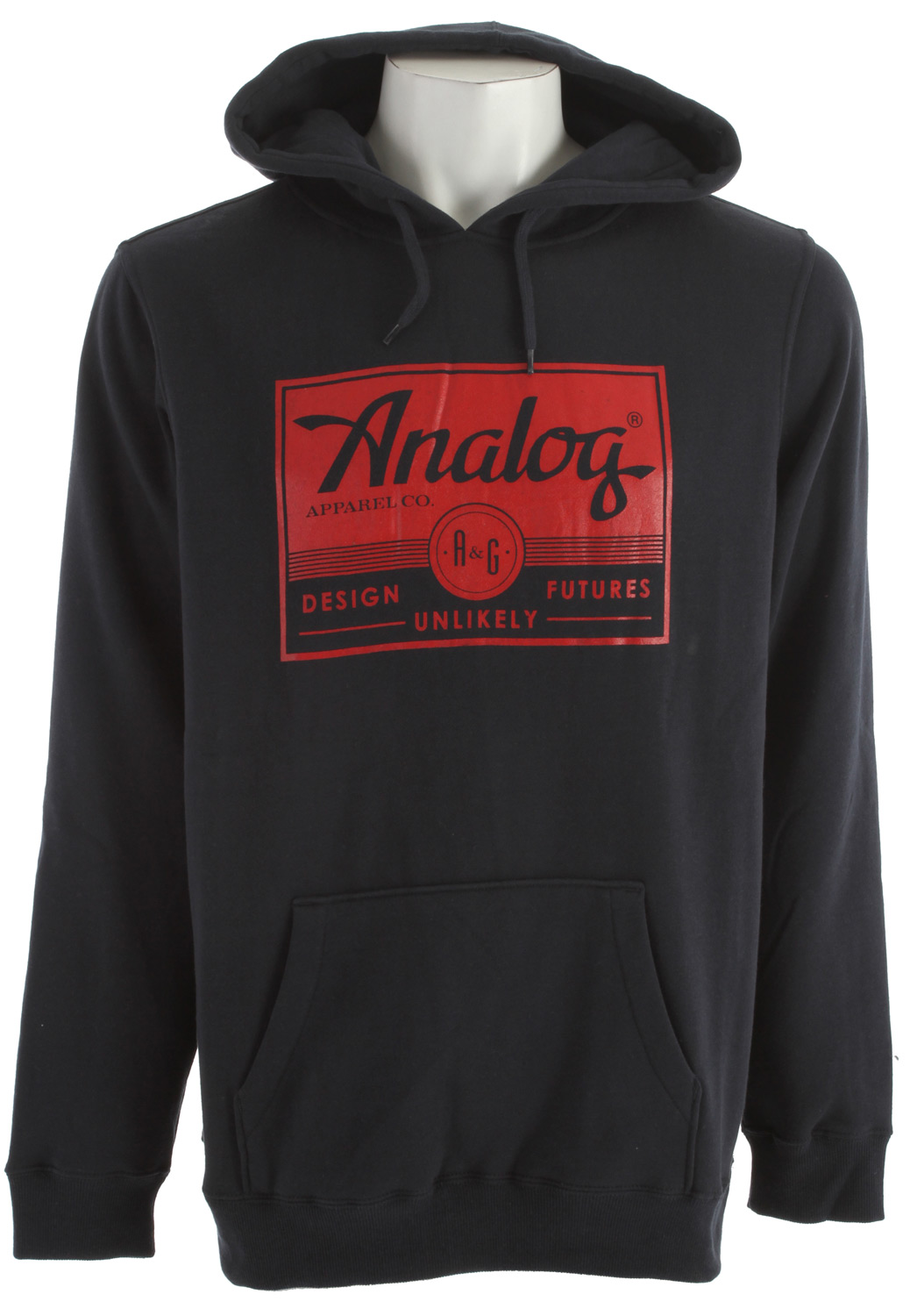 Guns and Military Key Features of the Analog A And G Registered Hoodie Regular fit basic pullover sweatshirt with a chest print 300gm 60% cotton/40% polyester - $38.95