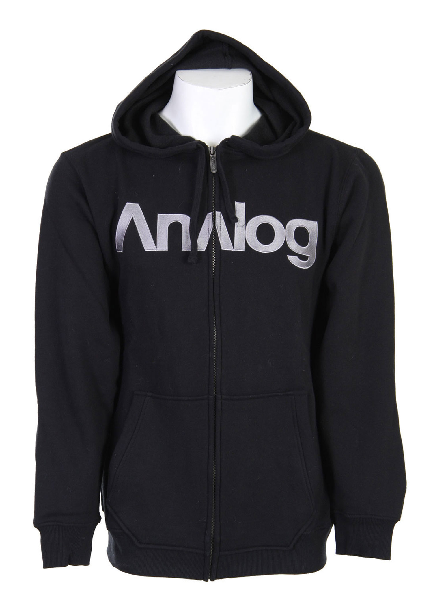 Key Features of the Analog Analogo Hoodie: Regular fit basic zip front sweatshirt with chest embroidery 300gm 80% Cotton/20% Polyester - $39.95