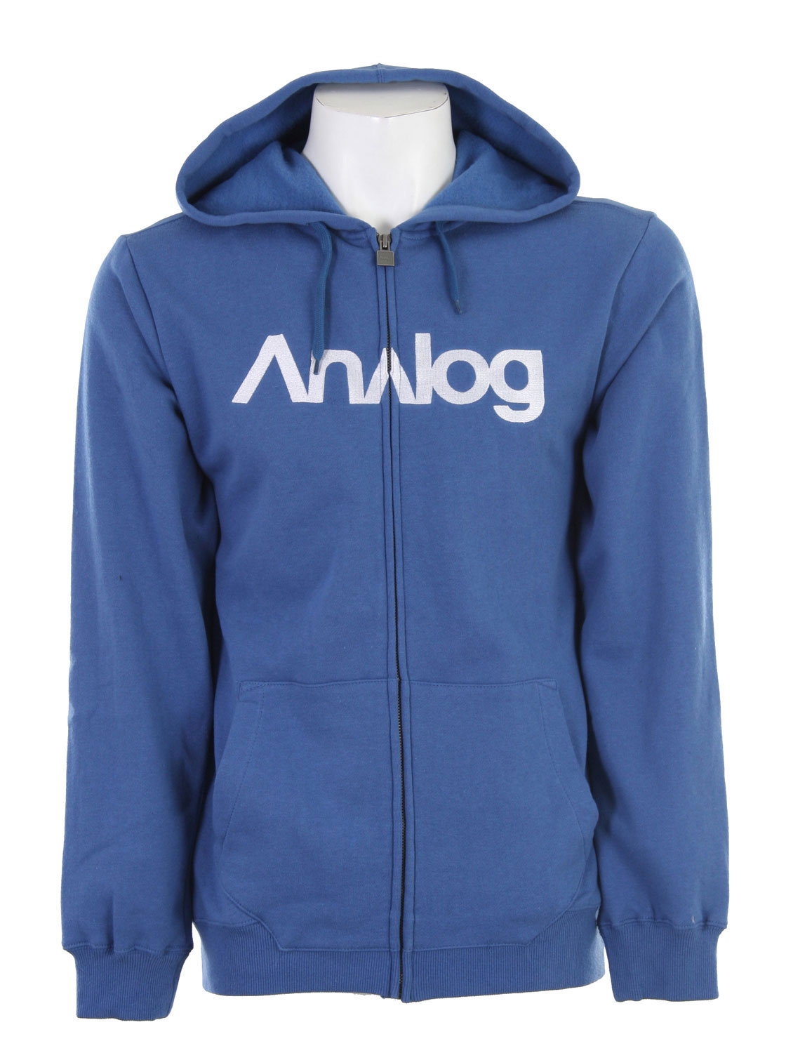 Snowboard The Analog Analogo Full Zip hoodie is a great classic hoodie that shows your snowboarding style. The hoodie has a traditional cut so that you have the flexibility and freedom to move. The fabric is a cotton-polyester blend so that it can breathe when you need it to breathe. The embroidered Analog logo shows that you have class along with style and still shows that you mean business. It is hard to beat a great wearing hoodie like this one.Key Features of the Analog Analogo Full Zip Hoodie: Regular Fit 80% Cotton 20% Polyester 300 gm Fleece Full zip with embroidered logo - $35.95