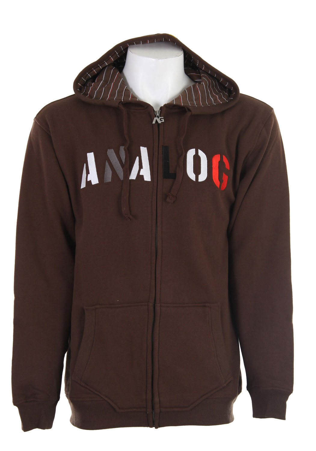 This comfy cool hoodie from Analog has utility and style. Made for 80% cotton and 20% polyester, this hoodie is lightweight, yet durable enough for the active man. It features a printed strip hood lining, contrasting chest embroidery, and a regular fit designed to keep you comfortable for all of life's activities. Its kangaroo pockets and full zip design make this hoodie casual and stylish. The Analog Habitual Full Zip Hoodie will become one of your favorites in no time.Key Features of the Analog Habitual Full Zip Hoodie: Regular Fit 80% Cotton / 20% Polyester 330G Brushed Fleece Chest Embroidery Printed Stripe Hood Lining - $24.95