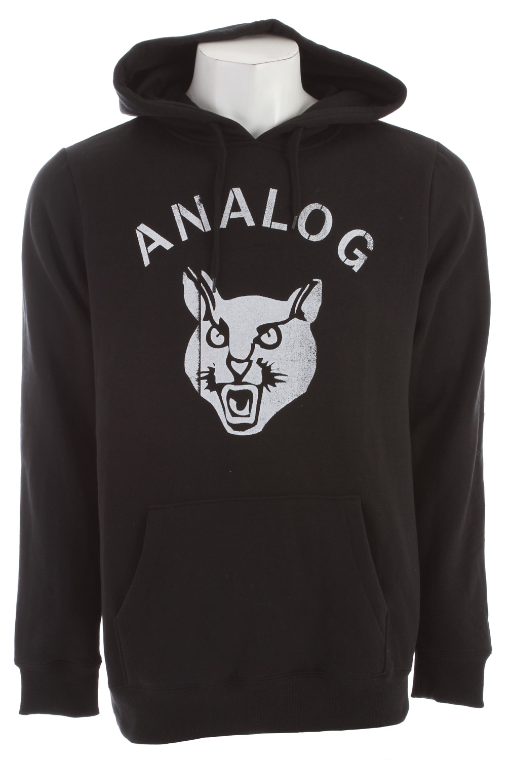 Key Features of the Analog Stray Cat Hoodie: Regular fit basic zip front sweatshirt with chest print 300gm 60% Cotton / 40% Polyester. - $38.95