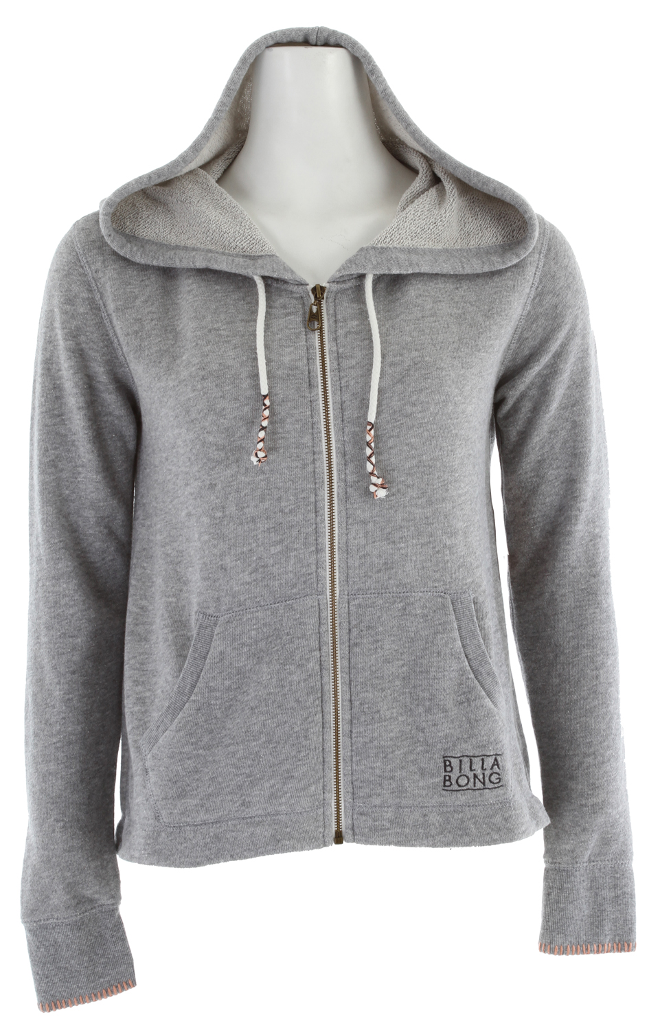Surf Key Features of the Billabong Mermaid Hoodie: 60% cotton/40% polyester Zip hoodie w/ shirttail hem Wrapped drawcord - $38.95