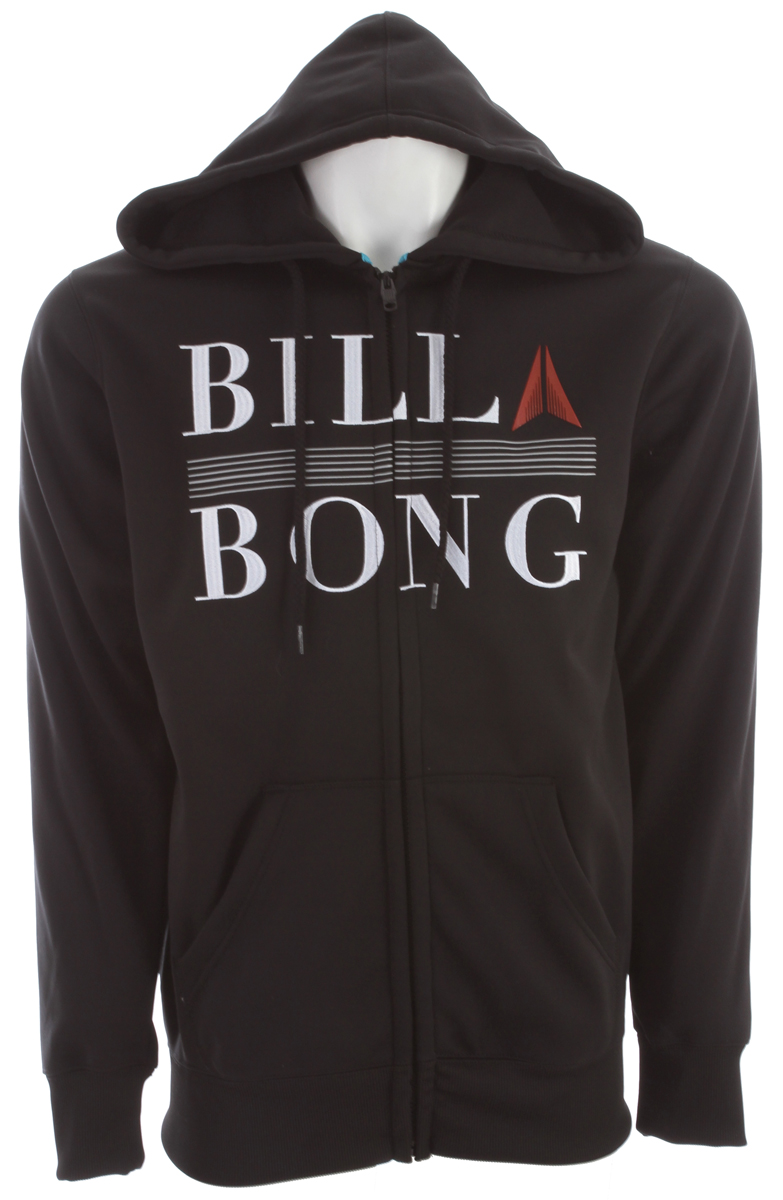 Surf Key Features of the Billabong Rap Up Hoodie: Hydrophobic hooded zip-up fleece with front chest applique Made with 100% polyester - $41.95