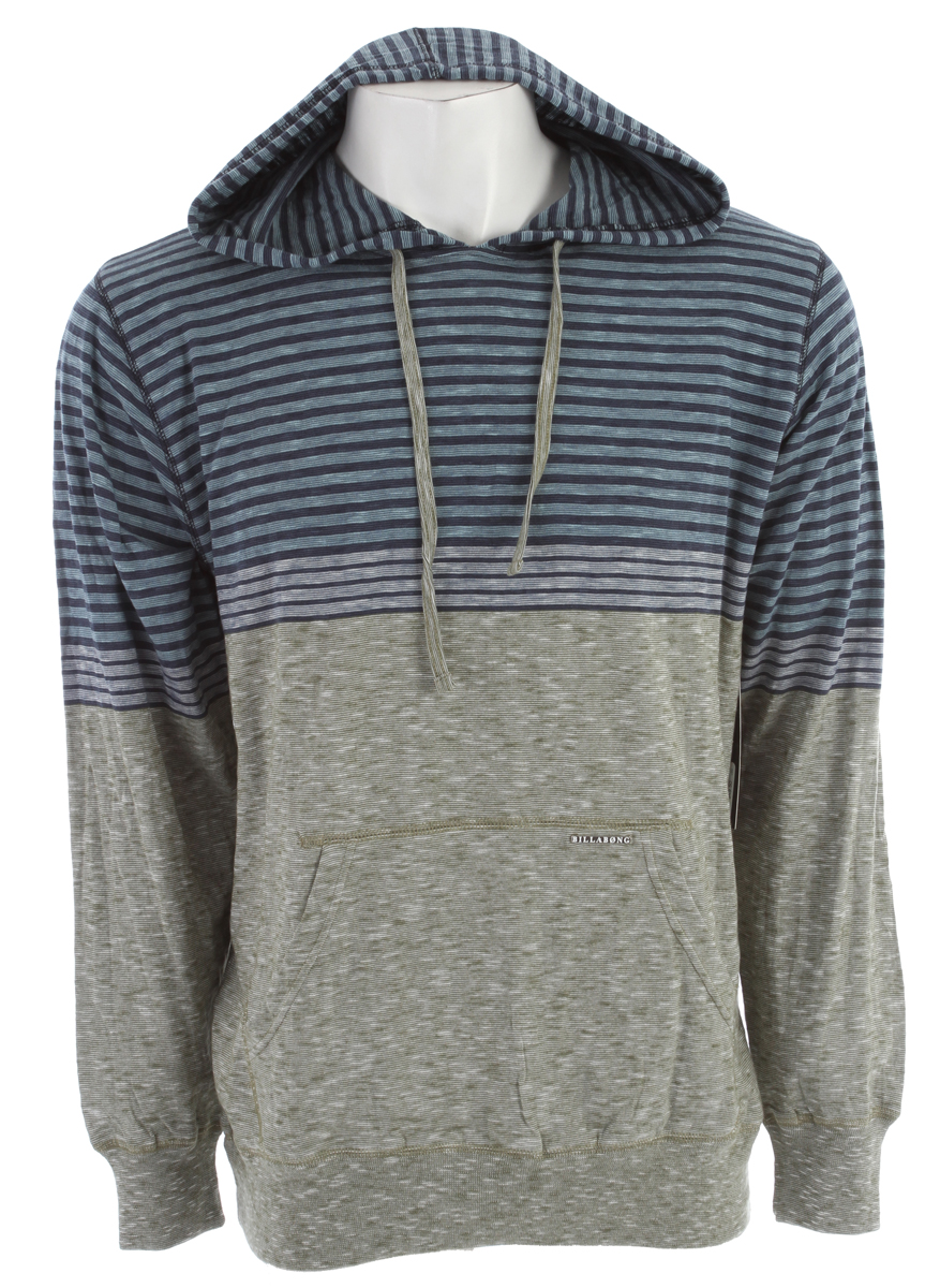 Surf Key Features of the Billabong Top Heavy Pullover Hoodie: Engineered end-on-end yarn dye slub jersey pull-over with Billabong metal badge on front pouch pocket Made with 100% cotton - $49.50