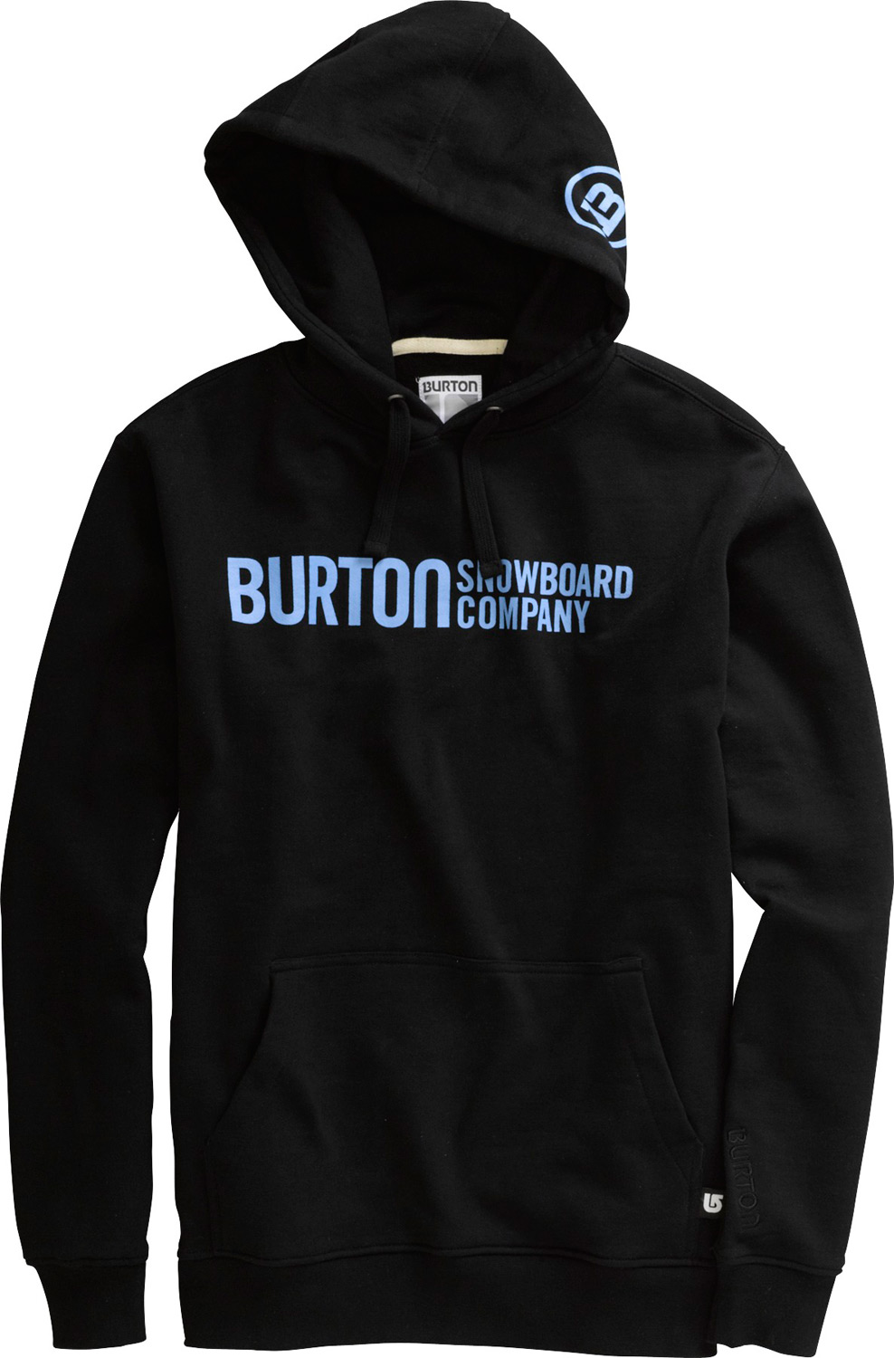 Snowboard Key Features of the Burton Classic Horizontal Hoodie: 80% Cotton, 20% Polyester, 300G Fleece Classic Horizontal Logo Print on Chest Custom Word Mark Label on Draw Cord Signature Fit - $33.95