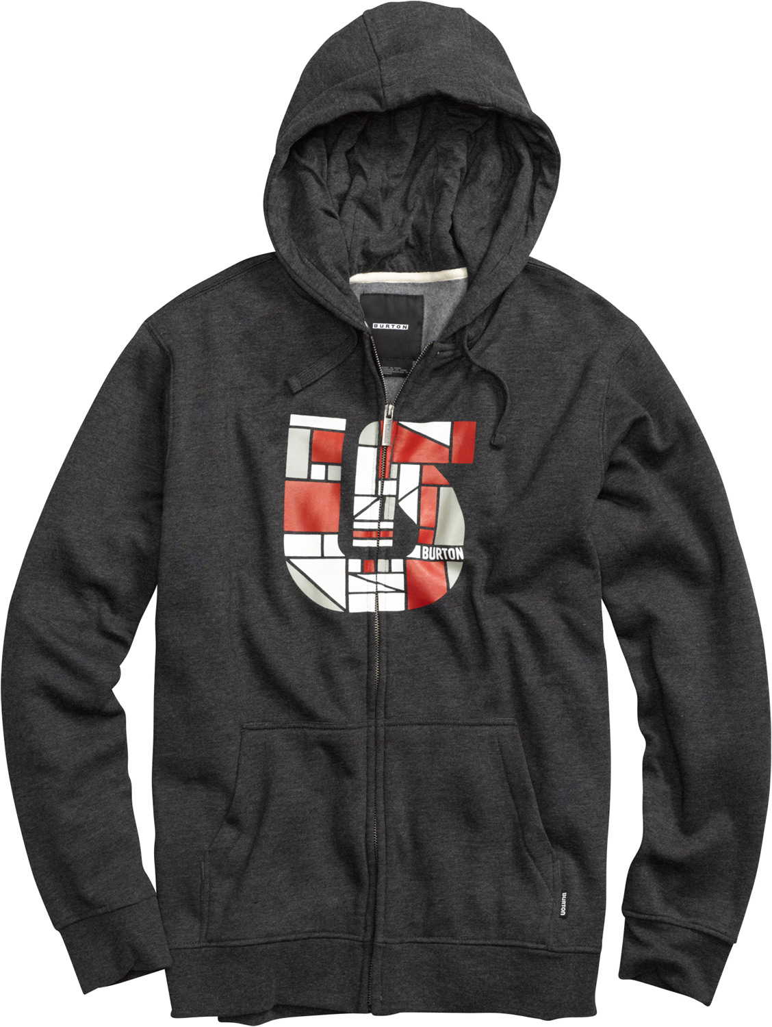 Snowboard Key Features of the Burton Compartment Fullzip Hoodie: 80% Cotton, 20% Polyester, 300G Fleece Kangaroo Pocket with Interior Media Stash Screen Print on Chest Regular Fit - $55.00