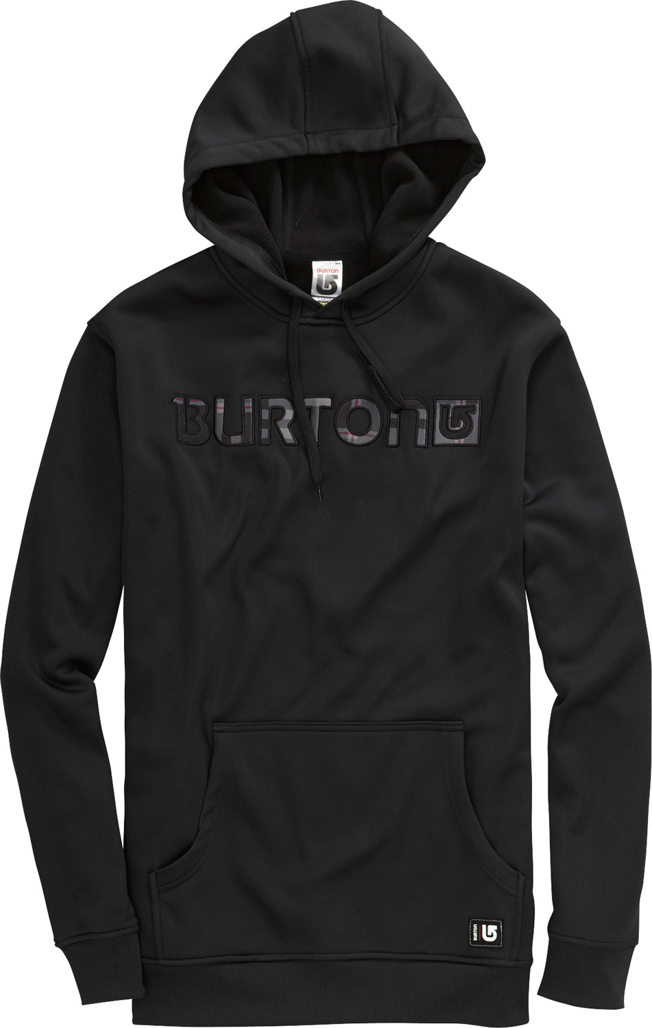 Snowboard Quick-drying and warm with extra room in case there's anything to hide.Key Features of the Burton Cymbal Hoodie: DRYRIDE Thermex Bonded, Hard-Surface Fleece with Brushed Backer Team Fit Hood with Drawstring Closure Kangaroo Handwarmer Pocket Hidden Side Seam Stash Pocket - $48.95