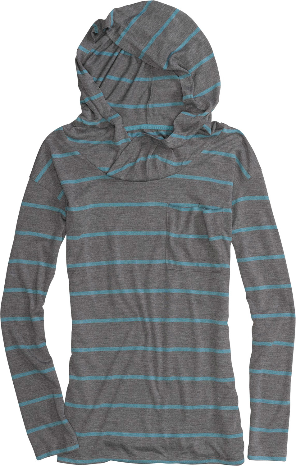 Snowboard Key Features of the Burton Driftwood Hoodie: 65% Polyester, 35% Viscose Yarn-Dyed Hooded Knit Top Oversized Hood with Drop Neck Line Signature Fit - $50.00