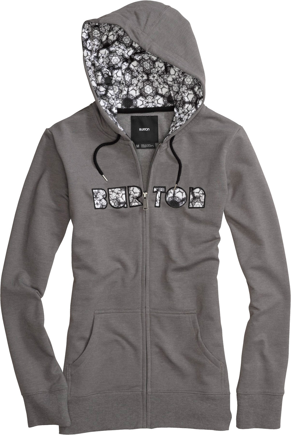 Snowboard Key Features of the Burton Gravity Fullzip Hoodie: 85% Cotton, 12% Polyester, 3% Spandex Custom Printed Artwork on Hood Lining and Front Applique Regular Fit - $38.36