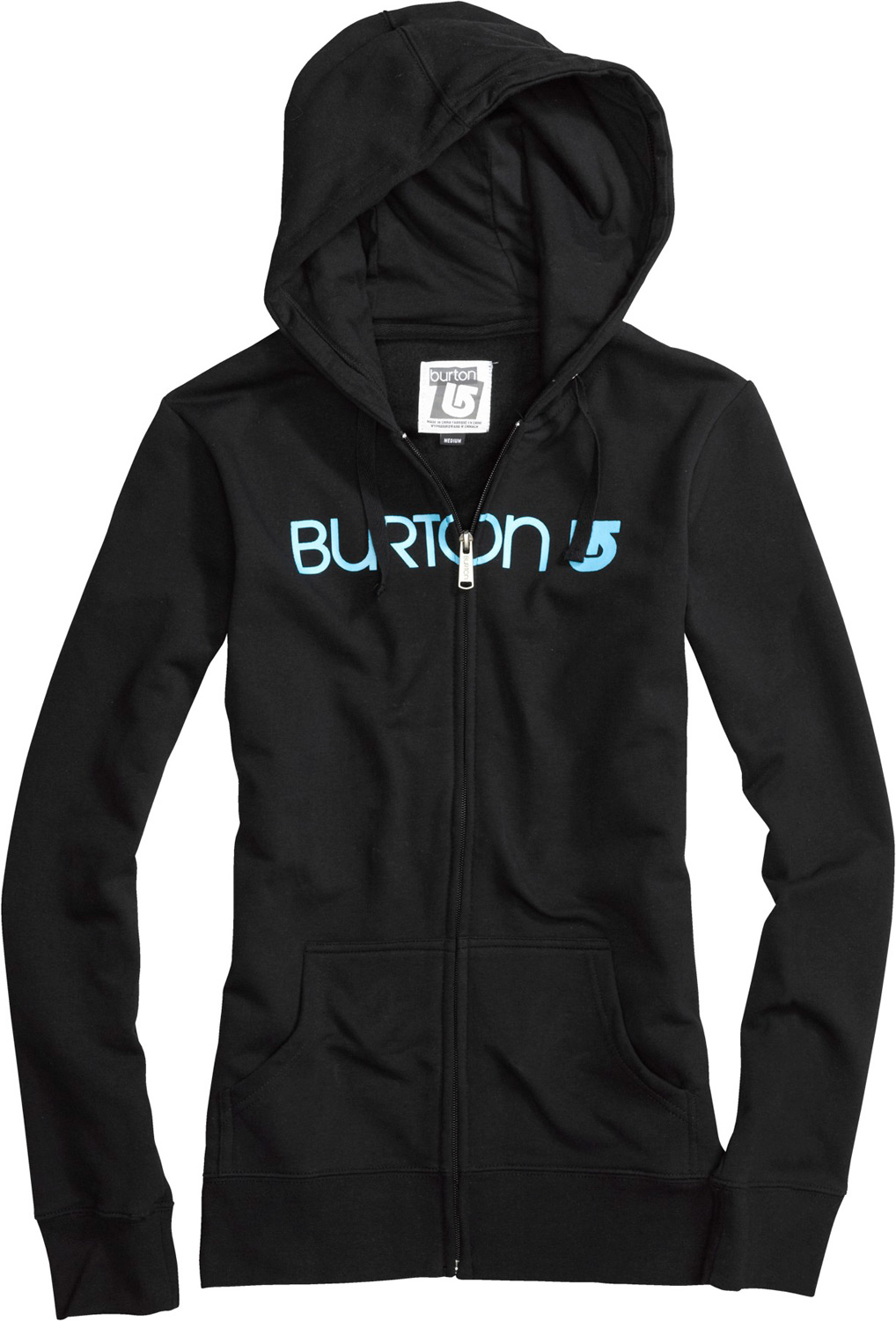 Snowboard Key Features of the Burton Her Logo Basic Fullzip Hoodie: 85% Cotton, 12% Polyester, 3% Spandex, 280G Fleece Screen Print at Chest Regular Fit - $34.95