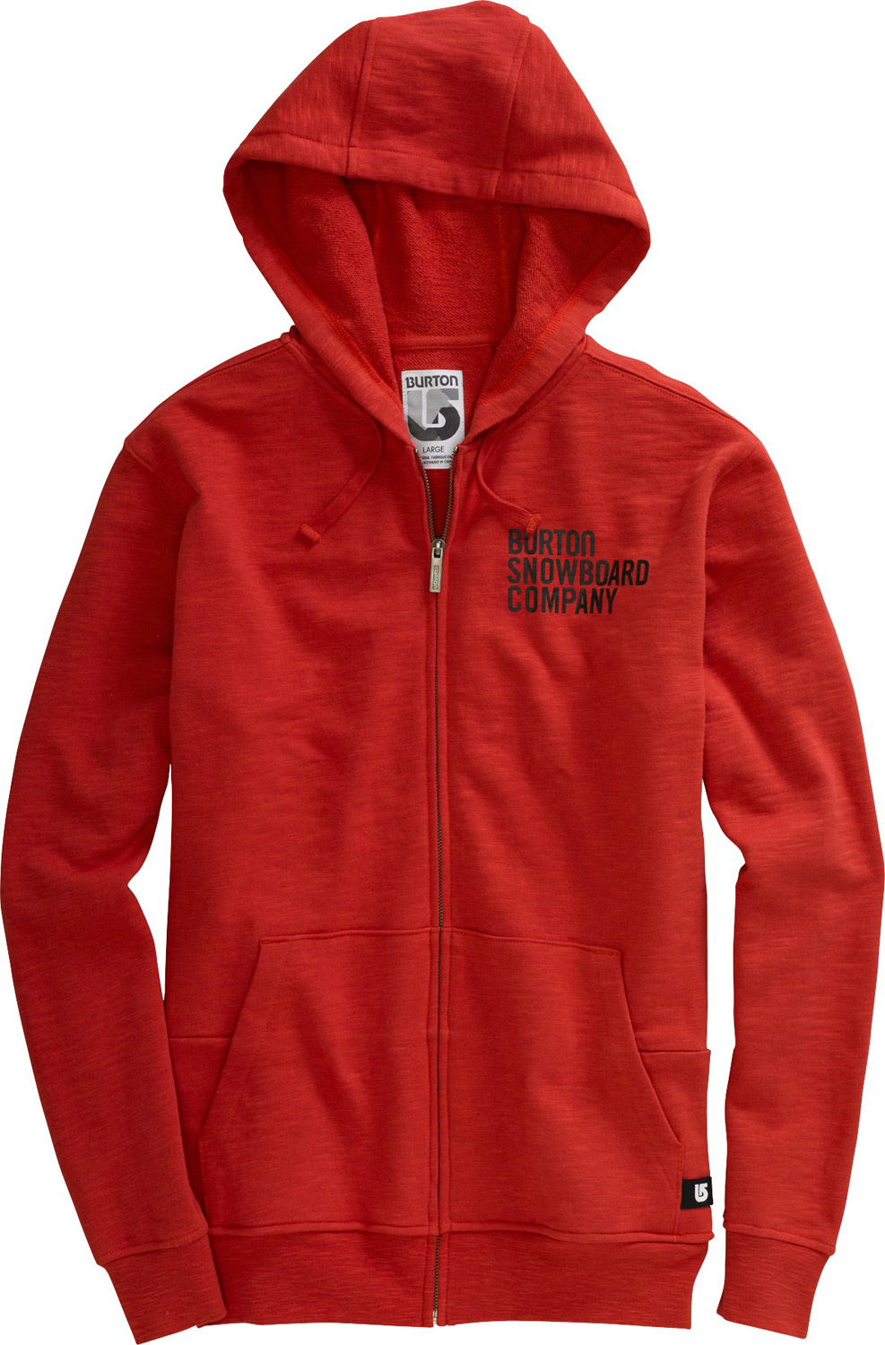 Snowboard Key Features of the Burton Helmet Fullzip Hoodie: 80% Cotton/20% Polyester Custom Zipper Pull and Eyelids Sig Fit - $37.95