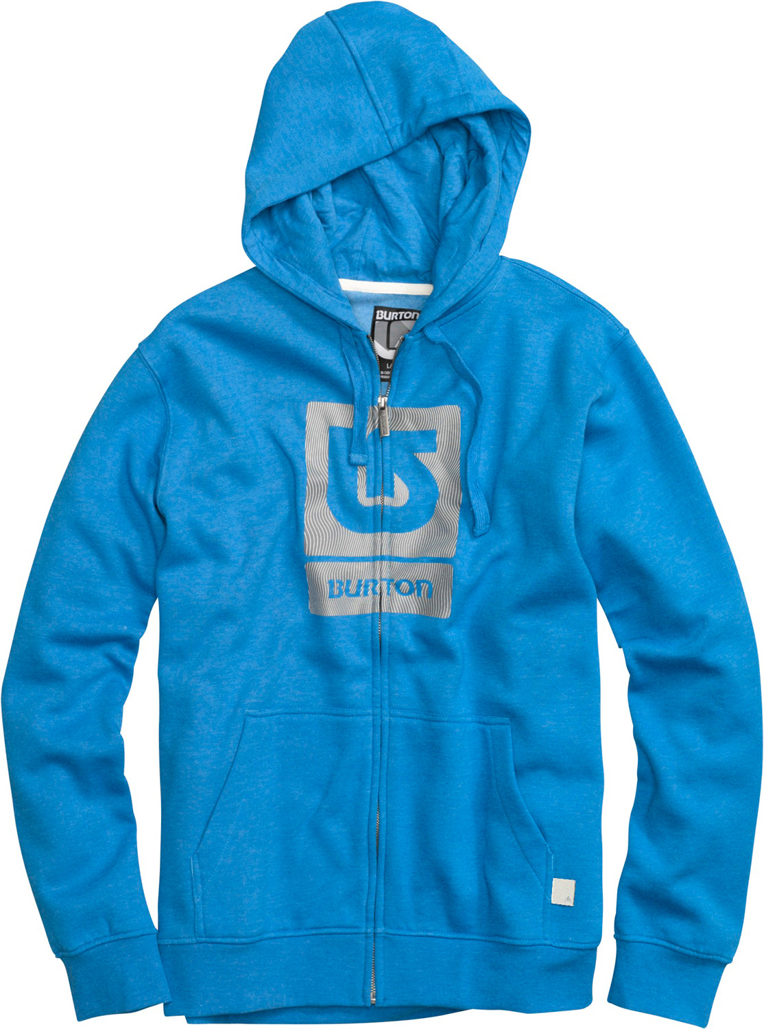 Snowboard Key Features of the Burton Logo Fill Fullzip Hoodie: 80% Cotton, 20% Polyester, 300G Fleece Kangaroo Pocket with Interior Media Stash Screen Print on Chest Regular Fit - $35.95