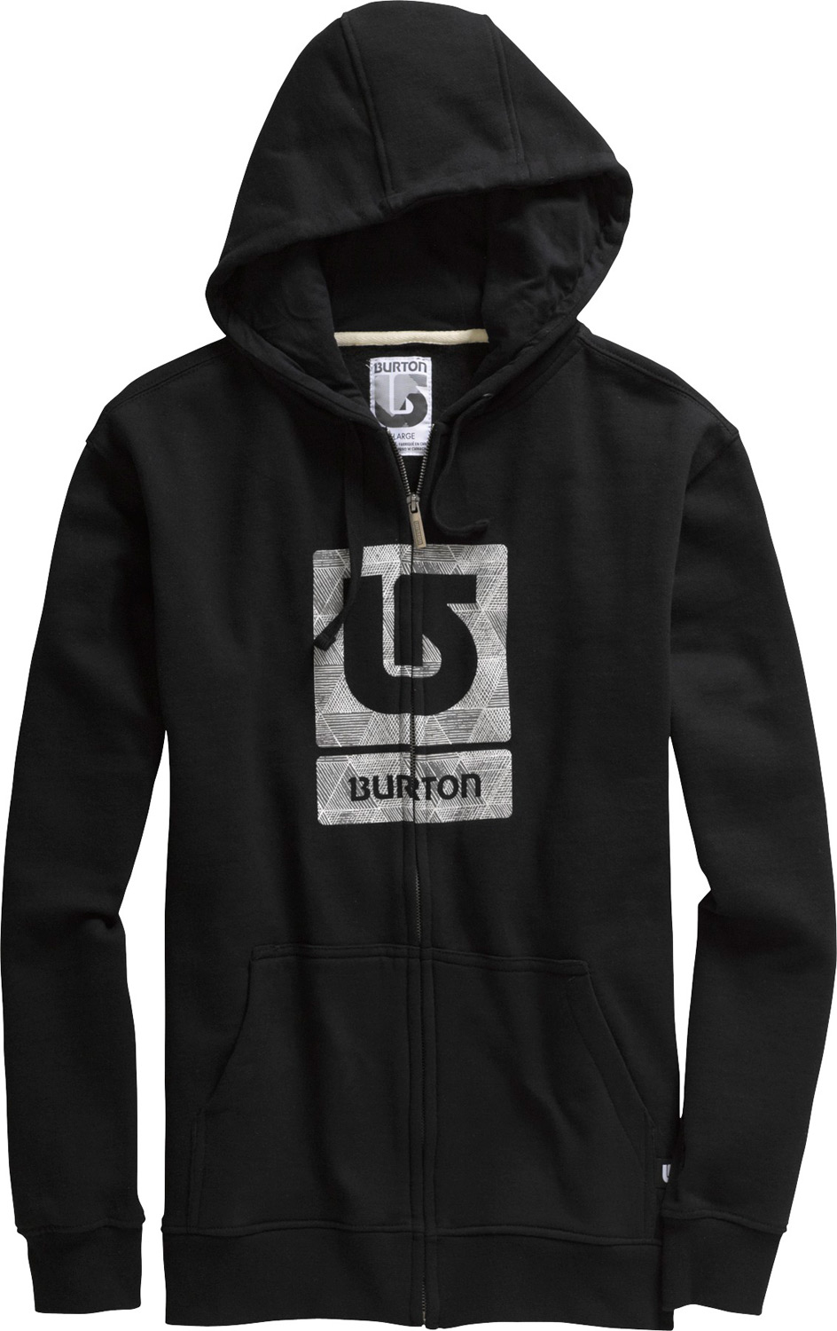 Snowboard Key Features of the Burton Logo Fill Fullzip Hoodie: 80% Cotton, 20% Polyester, 300G Fleece Artwork Varies by Colorway Signature Fit Vertical Logo Fill Print on Chest - $36.95
