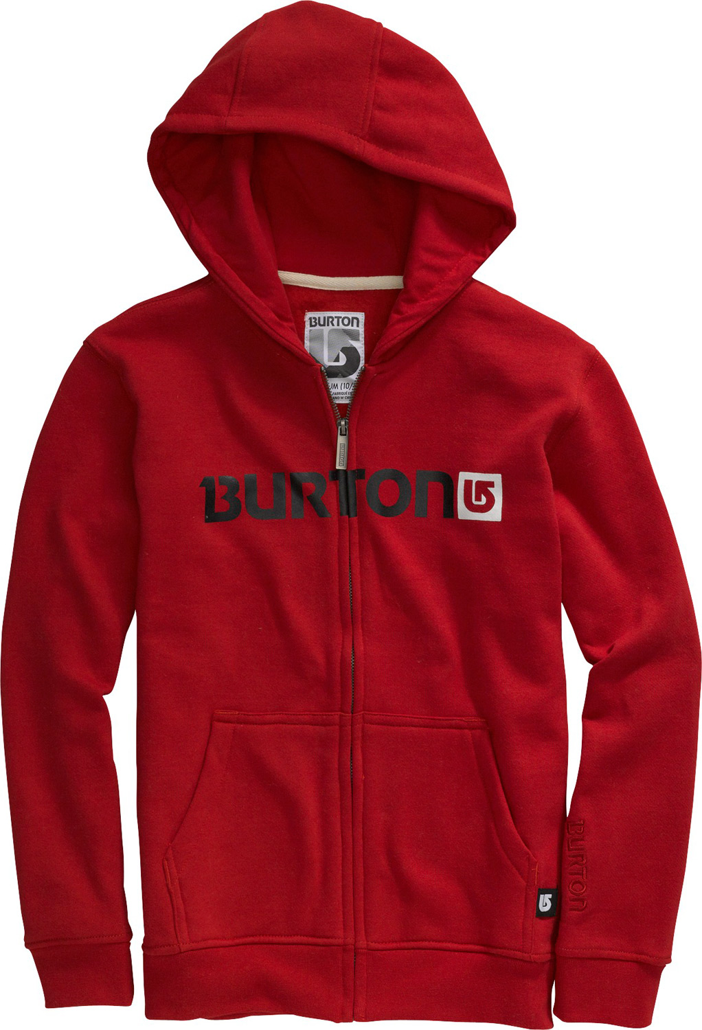 Snowboard Key Features of the Burton Logo Horizontal Hoodie: 80% Cotton/20% Polyester, 300G Fleece Kangaroo Hand Warmer Pocket w/Interior Media Stash Signature Fit Hidden Side Seam Stash Pocket Word Marker Logo Print on Chest S-XL - $30.95