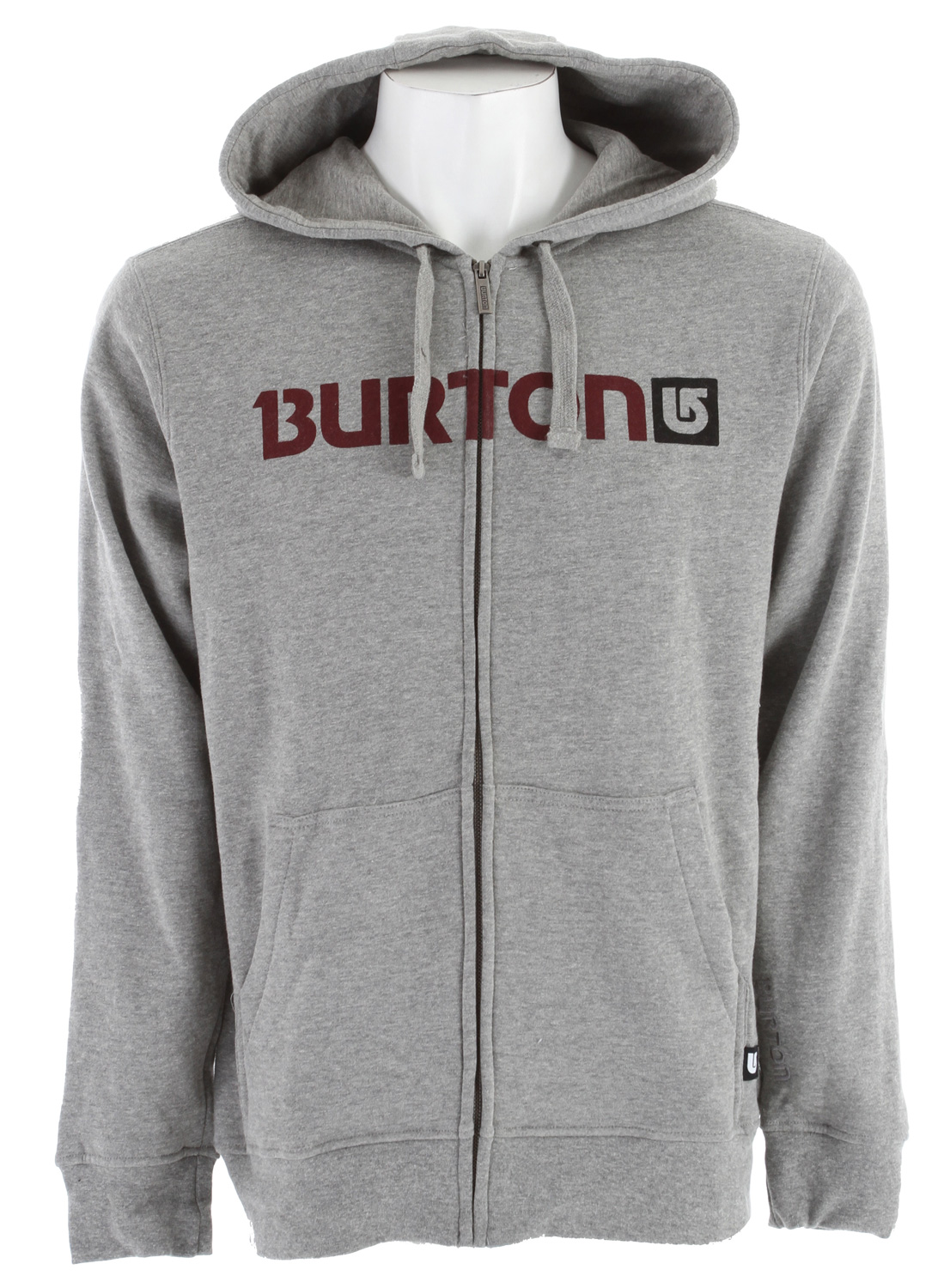 Snowboard Key Features of the Burton Logo Horizontal Fullzip Tsa Hoodie: 80% Cotton, 20% Polyester, 300G Fleece Signature Fit Word Mark Logo Print on Chest - $30.95
