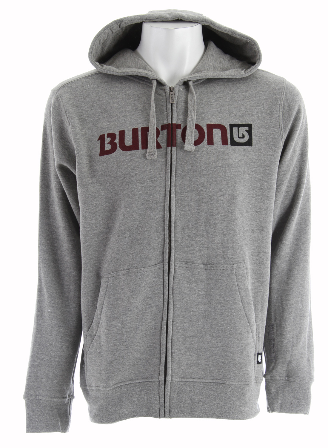 Snowboard Key Features of the Burton Logo Horizontal Hoodie: 80% Cotton/20% Polyester, 300G Fleece Kangaroo Hand Warmer Pocket w/Interior Media Stash Signature Fit Hidden Side Seam Stash Pocket Word Marker Logo Print on Chest S-XL - $36.95