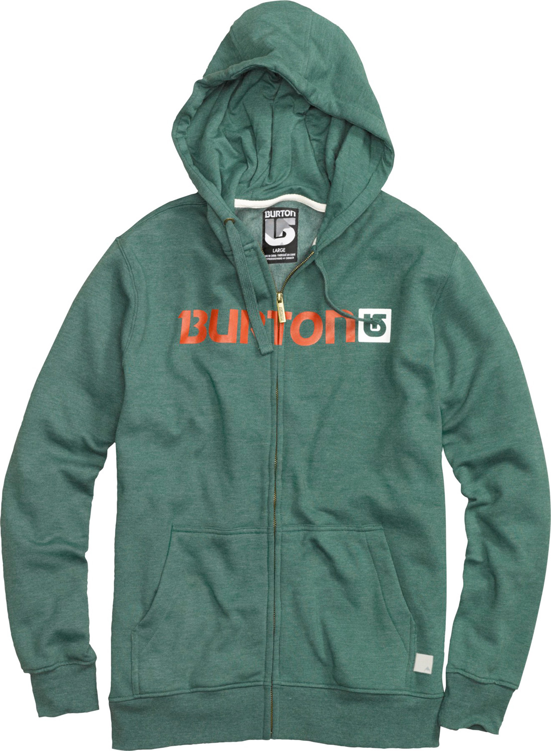 Snowboard Key Features of the Burton Logo Horizontal Fullzip Hoodie: 80% Cotton, 20% Polyester, 300G Fleece screen Print on Chest regular Fit - $35.95