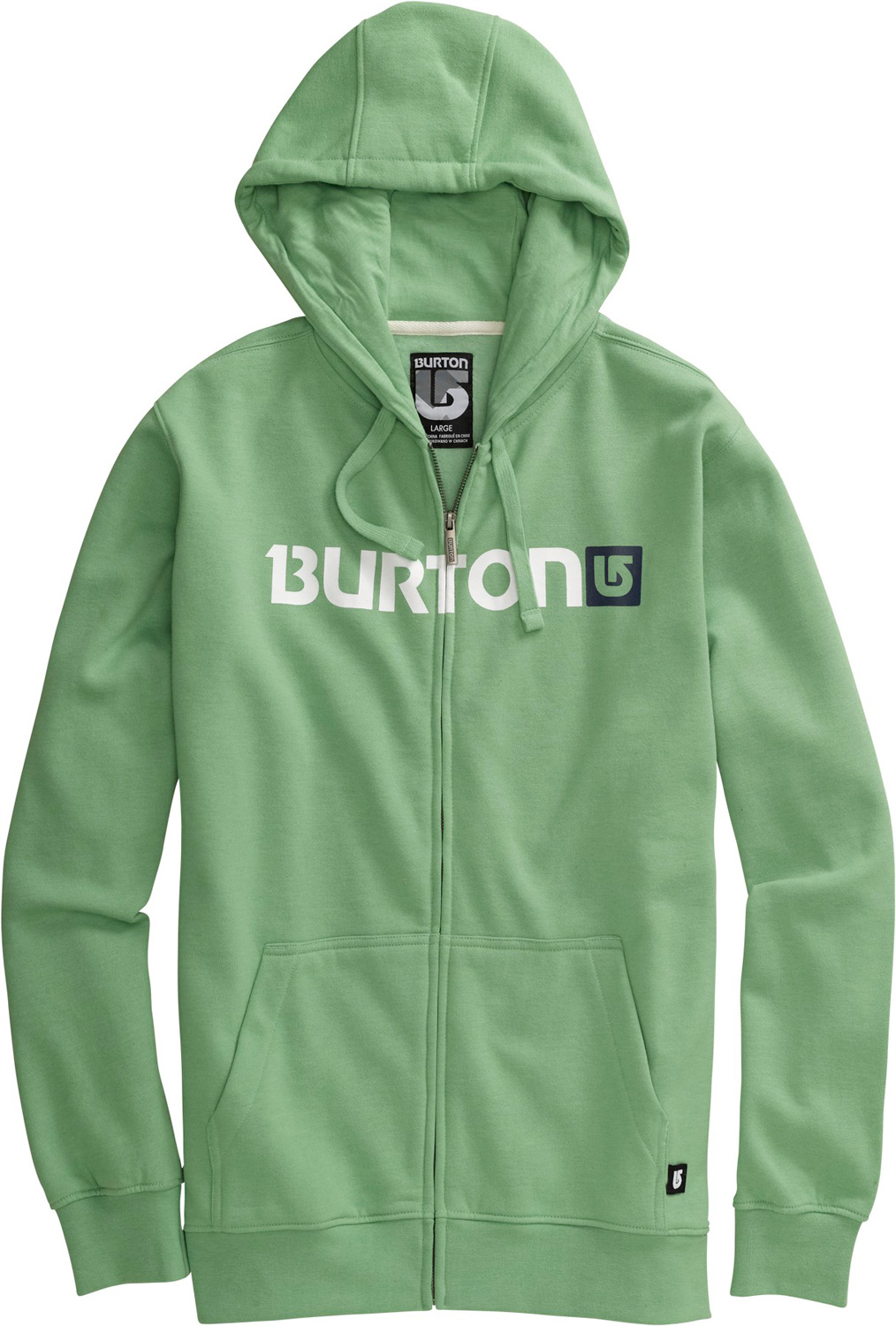 Snowboard Key Features of the Burton Logo Horizontal Hoodie: 80% Cotton/20% Polyester, 300G Fleece Kangaroo Hand Warmer Pocket w/Interior Media Stash Signature Fit Hidden Side Seam Stash Pocket Word Marker Logo Print on Chest S-XL - $39.95