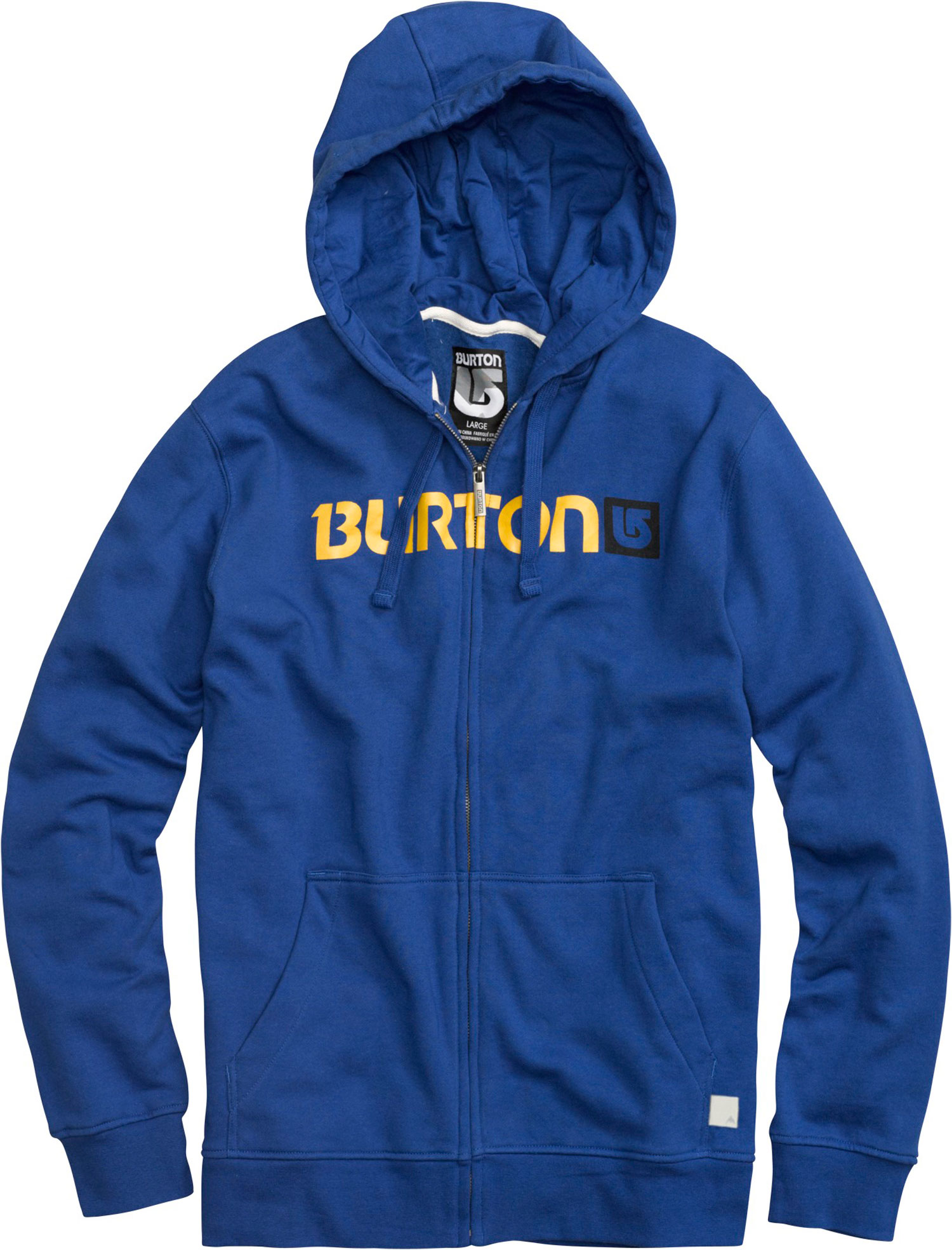 Snowboard The Burton Logo Horizontal Fullzip Hoodie is a lightweight top great for wearing all alone or tossing on under a coat in colder weather. This 80% cotton 20% polyester blend hoodie is soft and warm and with the handwarming kangaroo pocket you can keep your things safe and digits toasty. An interior media stash you can listen to your tunes on the go with ease. So if you need a nice looking and reliable top the Logo Horizontal Hoodie by Burton is the way to go.Key Features of the Burton Logo Horizontal Fullzip Hoodie:  80% Cotton, 20% Polyester, 300G Fleece  screen Print on Chest  regular Fit - $35.95
