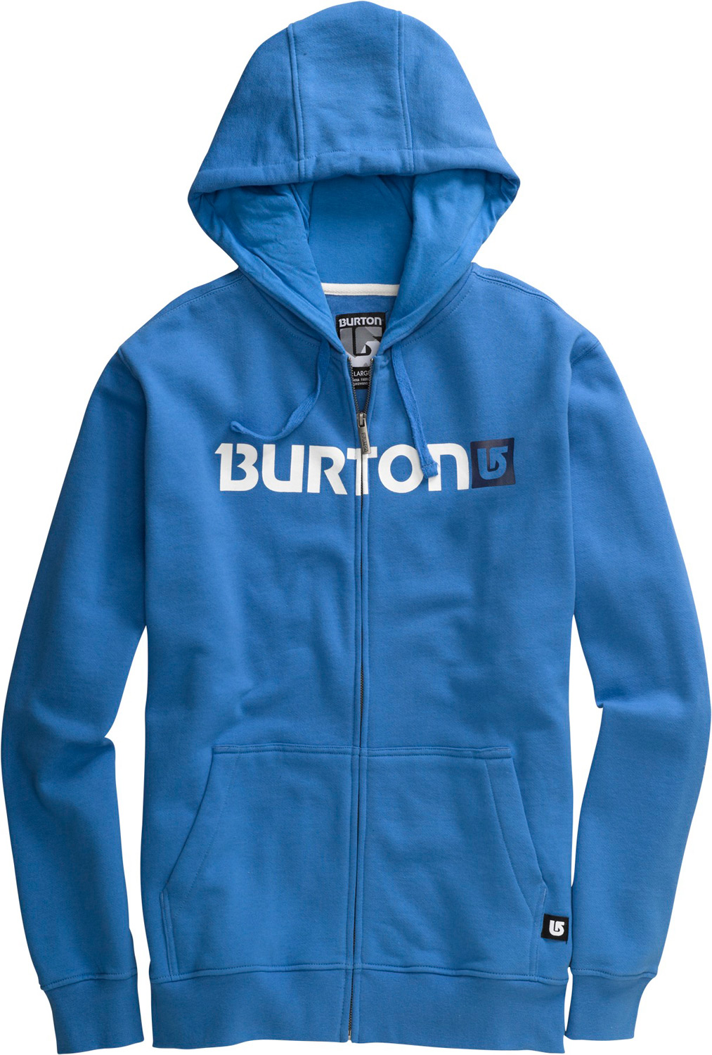 Snowboard Key Features of the Burton Logo Horizontal Hoodie: 80% Cotton/20% Polyester, 300G Fleece Kangaroo Hand Warmer Pocket w/Interior Media Stash Signature Fit Hidden Side Seam Stash Pocket Process Logo on Chest S-XL - $44.95