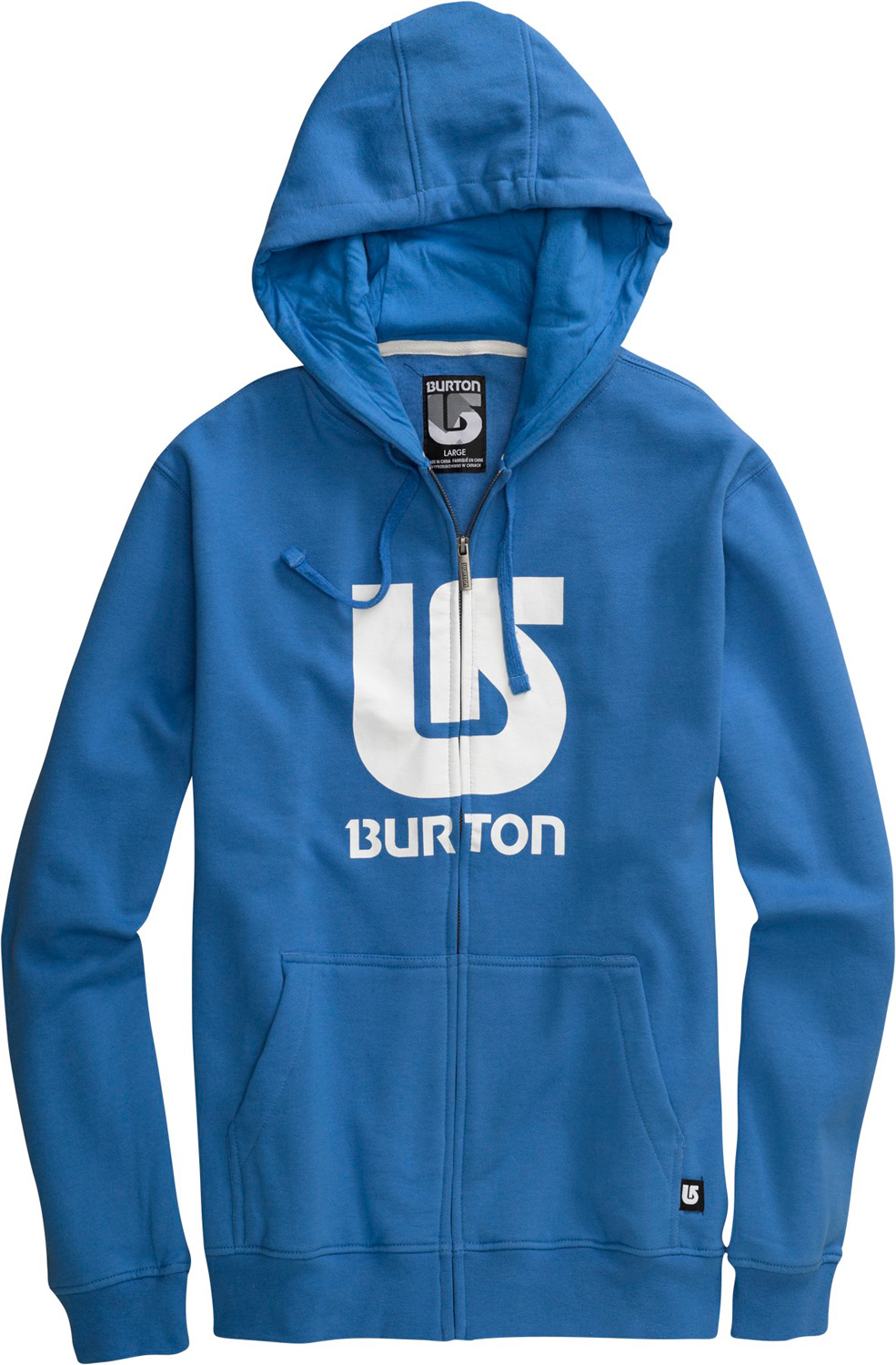 Snowboard Key Features of the Burton Logo Vertical Hoodie: 80% Cotton/20% Polyester, 300G Fleece Kangaroo Hand Warmer Pocket w/Interior Media Stash Signature Fit Hidden Side Seam Stash Pocket ProcessLogo on Chest S-XL - $36.95
