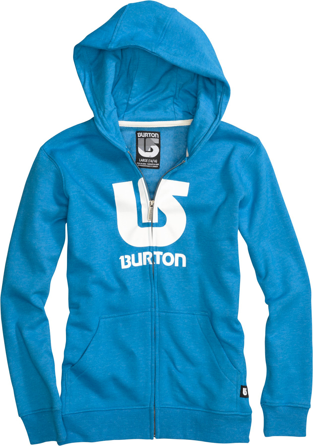 Snowboard Key Features of the Burton Logo Horizontal Fullzip Hoodie: 80% Cotton, 20% Polyester, 300G Fleece screen Print on Chest regular Fit - $33.95