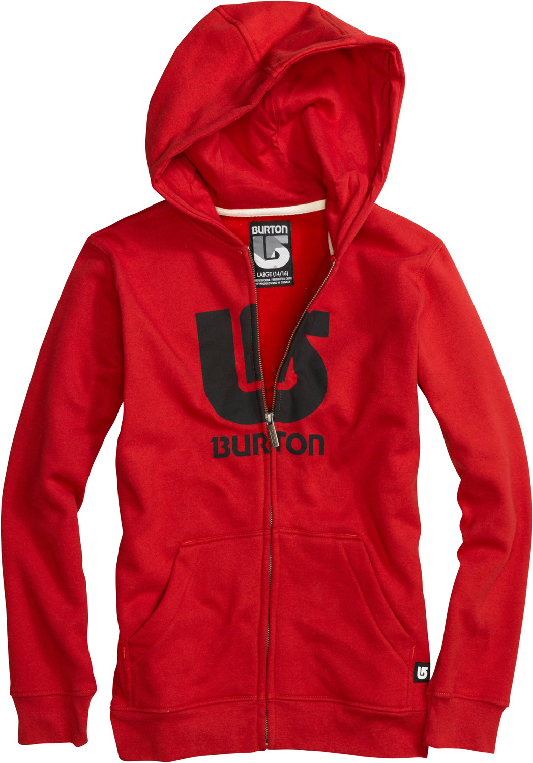 Snowboard Key Features of the Burton Logo Horizontal Fullzip Hoodie: 80% Cotton, 20% Polyester, 300G Fleece screen Print on Chest regular Fit - $51.00