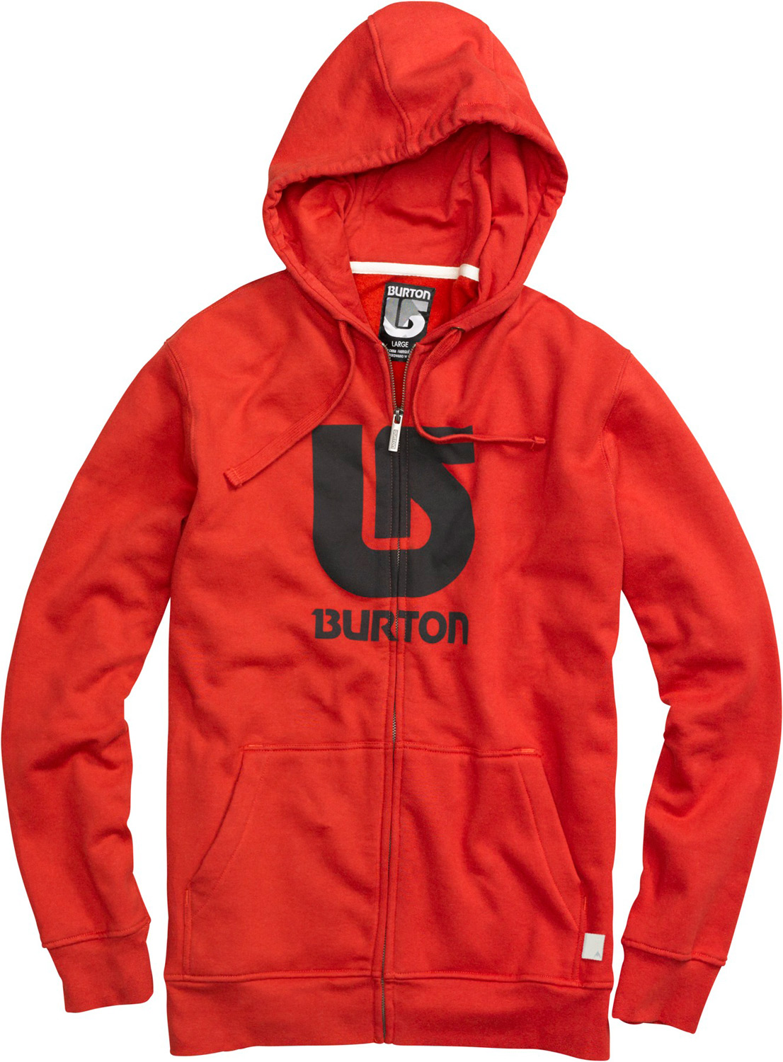 Snowboard Key Features of the Burton Logo Vertical Fullzip Hoodie: 80% Cotton, 20% Polyester, 300G Fleece Kangaroo Pocket with Interior Media Stash Screen Print on Chest Regular Fit - $35.95