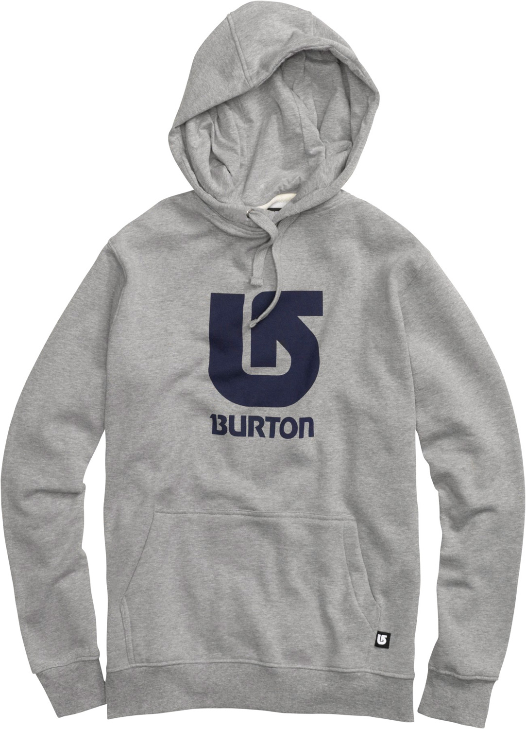 Snowboard Key Features of the Burton Logo Vertical Pullover Hoodie: 80% Cotton, 20% Polyester, 300G Fleece Kangaroo Pocket with Interior Media Stash Screen Print on Chest Regular Fit - $51.00