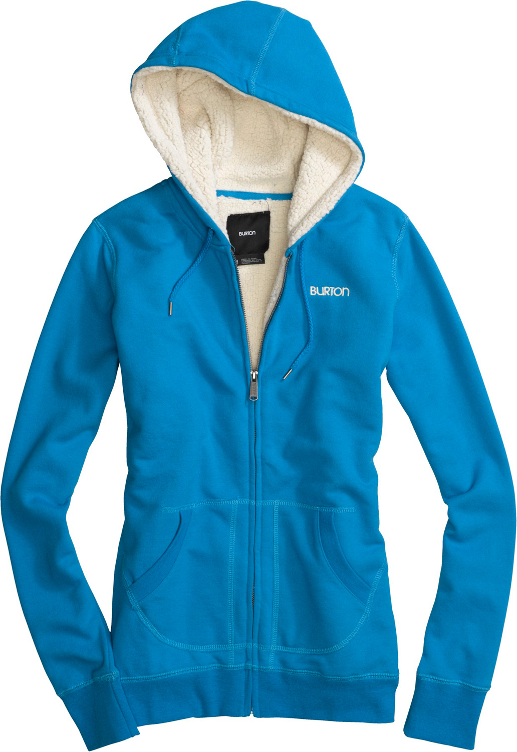 Snowboard Key Features of the Burton Monarch Custom Fullzip Hoodie: 60% Cotton, 40% Polyester, 300G Fleece Carbon Brushed Full-Zip Fleece with Sherpa Lining Embroidered Logo Regular Fit - $65.00