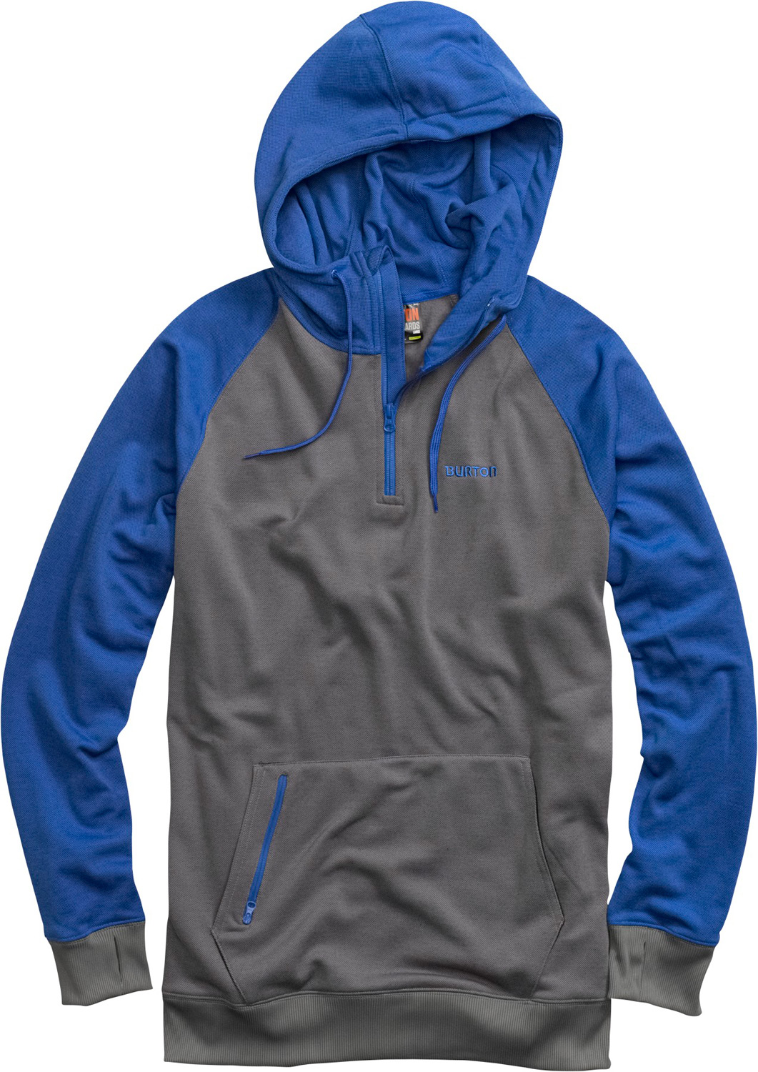 Snowboard Boldly go. Wind, snow, rain-this high-tech hoodie deflects it all. Key Features of the Burton Totem Hoodie: DRYRIDE Thermex Bonded Fleece Body Hood with Drawstring Closure Kangaroo Handwarmer Pocket Ribbed Cuffs and Hem Hidden Side Seam Stash Pocket with Headphone Cable Port - $79.95