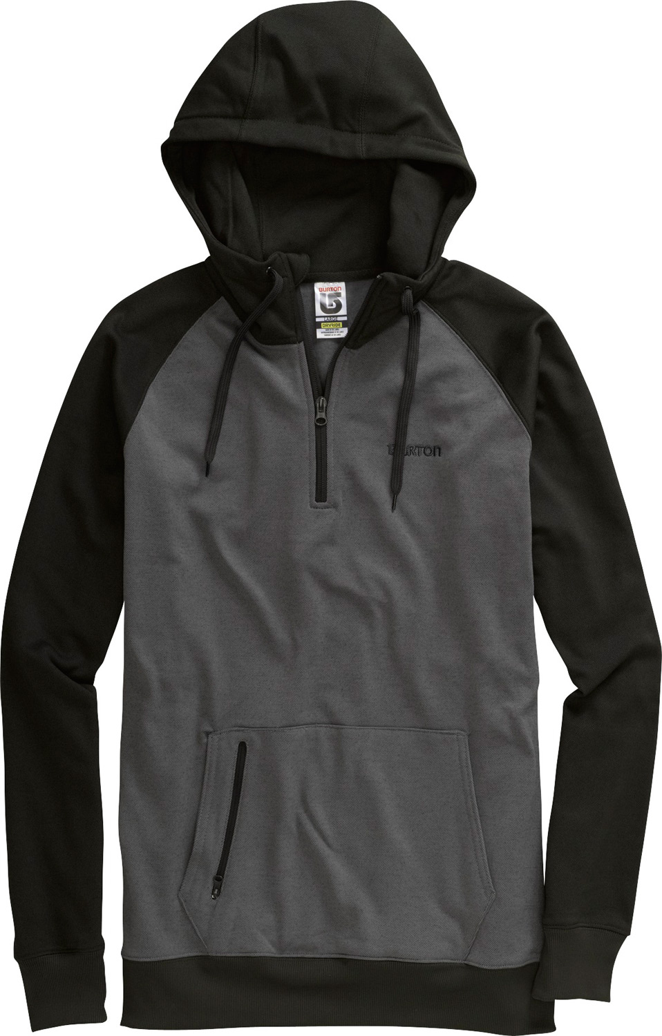 Snowboard Quarter zip that's way nicer than the schwag your buddy's packing.Key Features of the Burton Totem Hoodie: DRYRIDE Thermex Oxford Pique Team Fit Hood with Drawstring Closure Kangaroo Handwarmer Pocket w/Zippered Entry 1/4 Zip Venting - $51.95