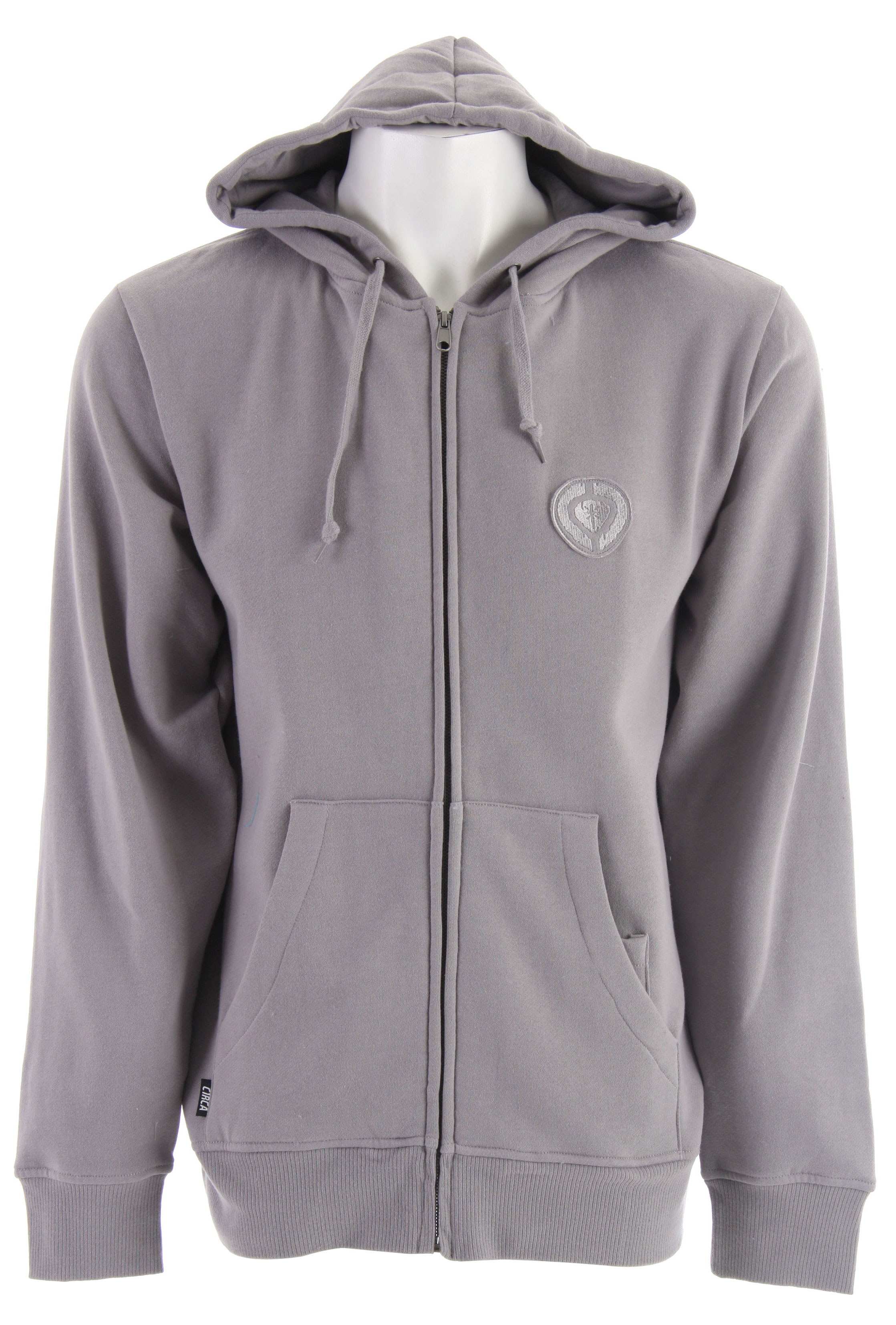 Key Features of the Circa Lopez Zip Hoodie: 80% Cotton/20% Polyester Standard Fit Heavy weight brushed fleece Back print Applique branding - $41.95