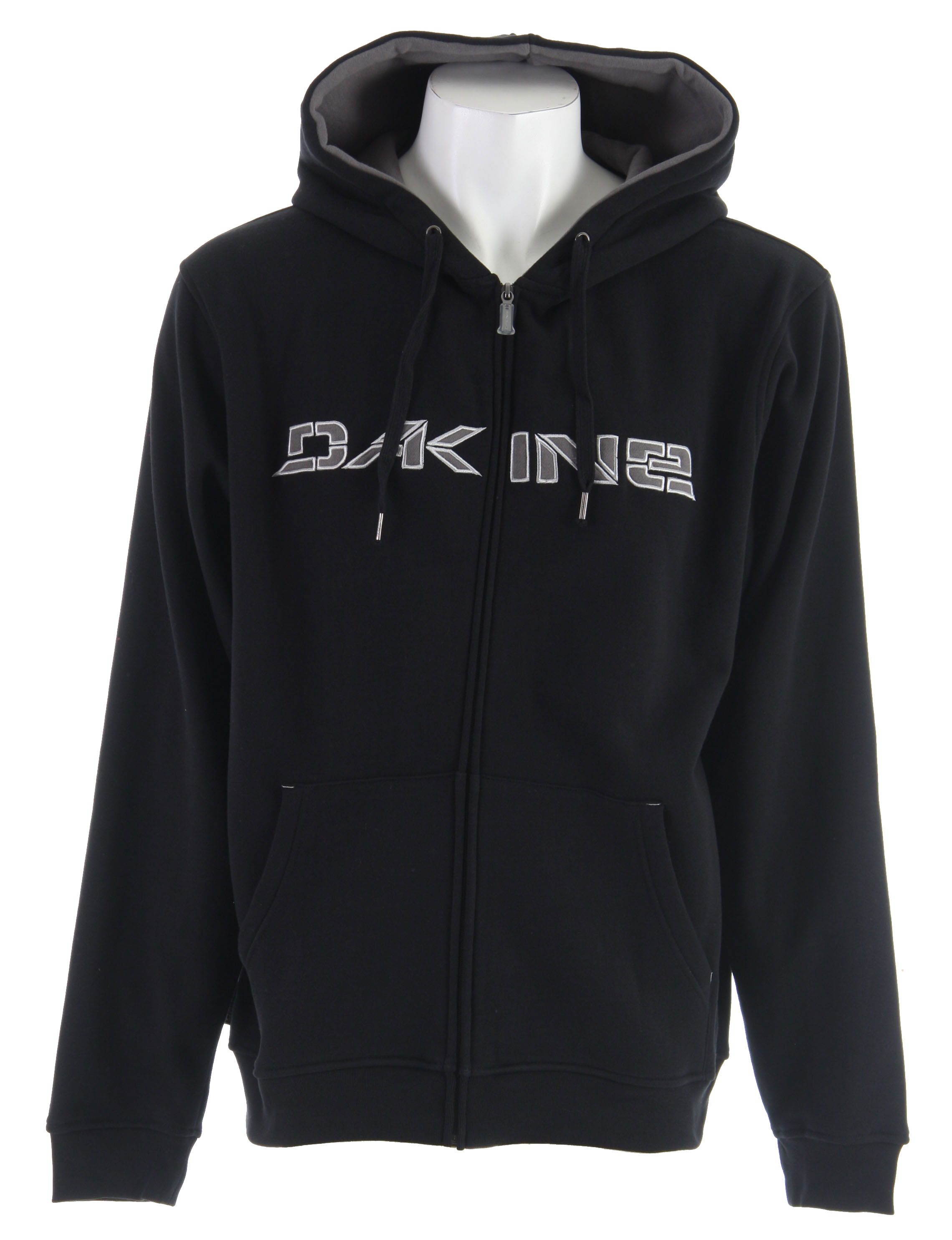 Surf Key Features of The Dakine Stencil Rail Hoodie: 70% Cotton / 30% Poly Fleece Cotton / Poly Fleece Lined Hood Full Zip - $34.95