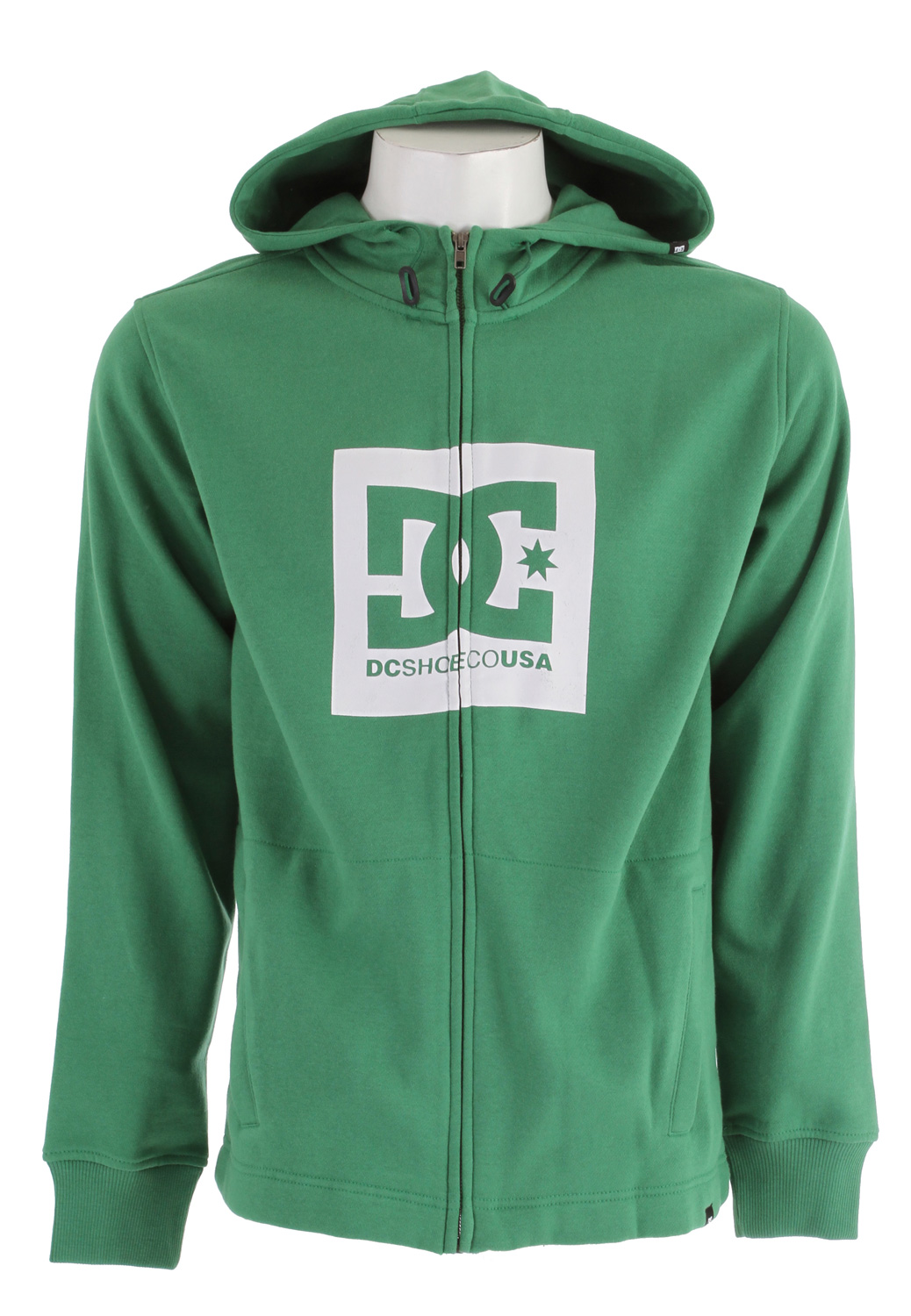 Skateboard Key Features of the DC Box ZH Hoodie: Basic technical inspired fullzip with softhand plastisol screenprint at chest Custom trim package 80/20 Cotton/Poly 330gm full zip fleece - $38.95