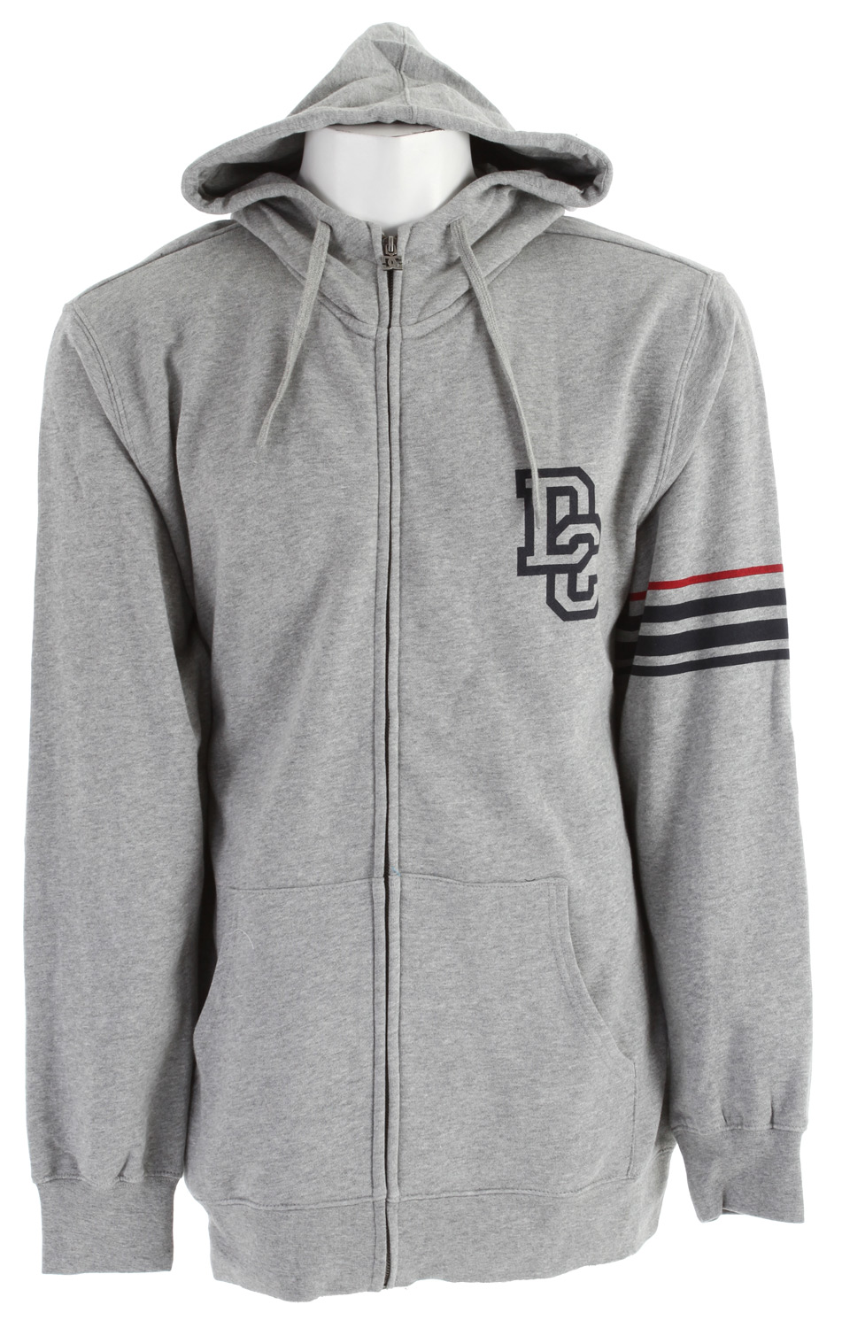 Skateboard Key Features of the DC Focus Zip Hoodie: Long fit fleece Full zip hood 80% cotton/20% polyester - $29.95