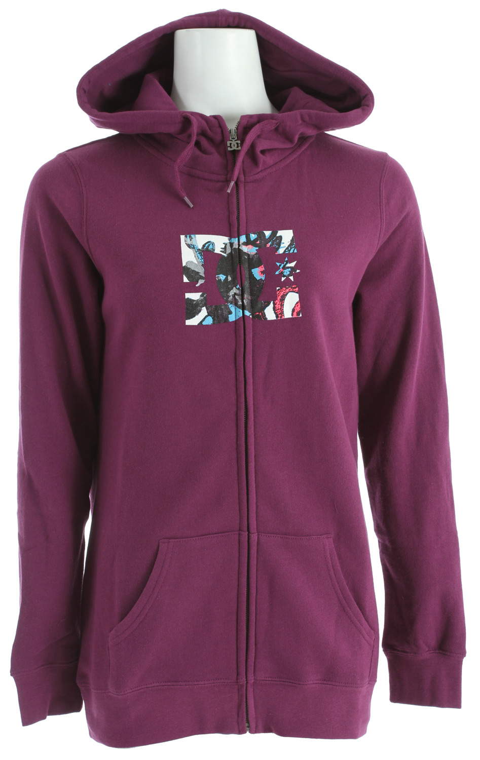 Skateboard Key Features of the DC Snow FZ Hoodie: Long fit fleece with full zip hood 80% cotton / 20% polyester - $24.95