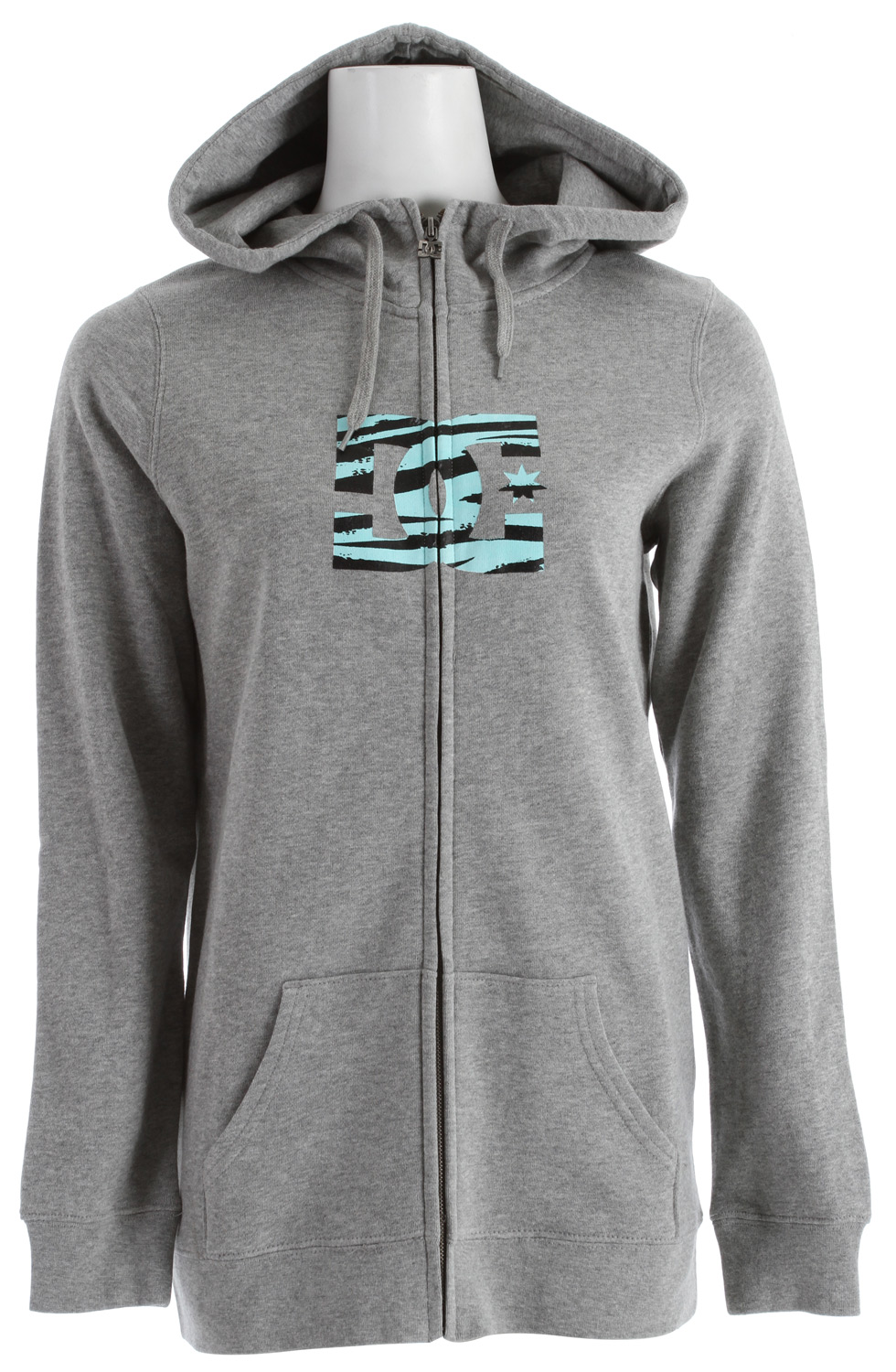 Skateboard Stay warm when the cold hits and the snow flies with this great, long-fit, fully front zippered DC Snow Fill FZ Hoodie for women. Made of a warm and cozy 80% cotton, 20% polyester blend, you'll keep the cold out while you stay warm inside it, and the colder it is, the more you'll appreciate its midweight insulation. Wear the DC Snow Fill Hoodie as an outer jacket itself to school, around town, or anywhere you want to be warm. Even wear it under a shell for increased warmth and water resistance, either way, you'll be as toasty as you want to be.  Long fit fleece with full zip hood   80% cotton / 20% polyester - $32.95