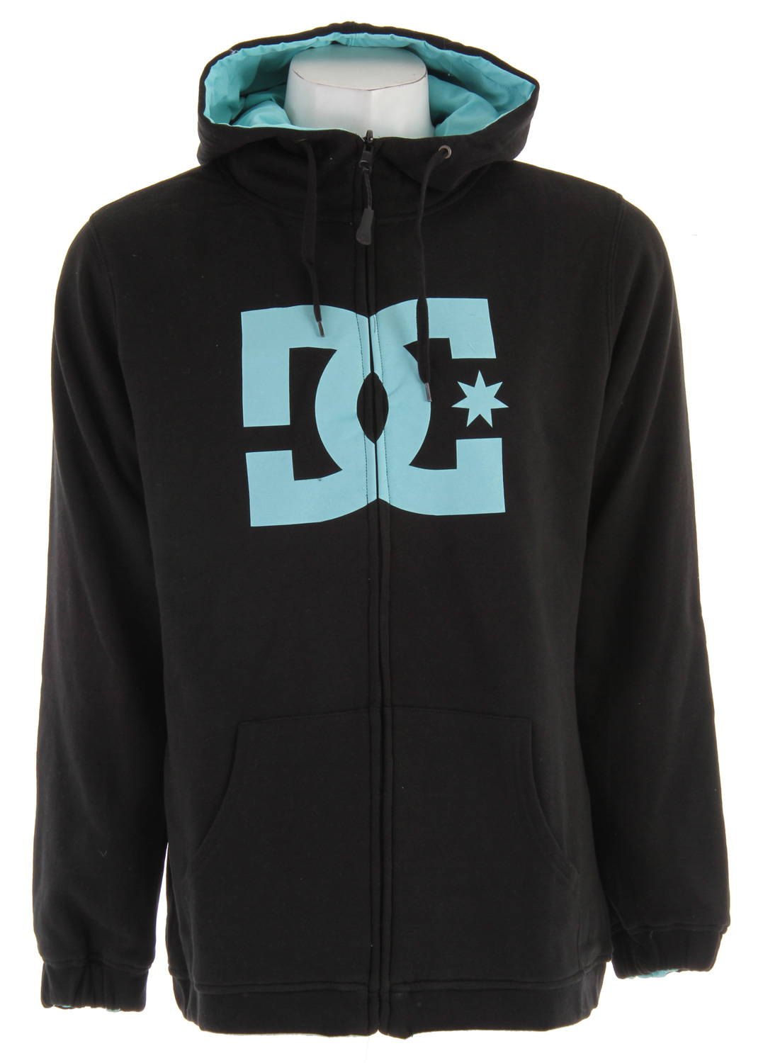 Skateboard Reversible long fit full zip. Water repellent fleece and outerwear logo applique on side A, outerwear fabric shell with logo badge on Side B. Thumb hole cuffs and elastic at hem. 60% cotton/ 40% polyester. - $39.95