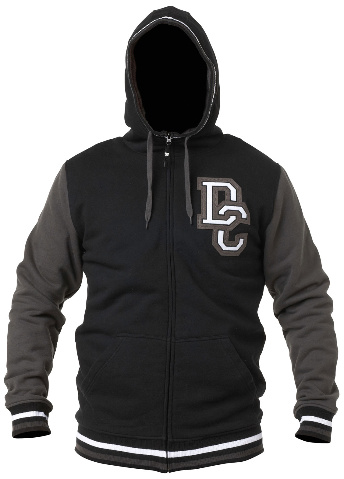 Skateboard Water repellent technical fleece with an old school, athletic inspiration. Bunny fur lined hood and body, rib thumb hole cuffs, dc logo felt patch and media pocket.Key Features of the DC Harper Hoodie: Fit: standard fzh 60/40 cotton polyester 340g fleece - $90.00