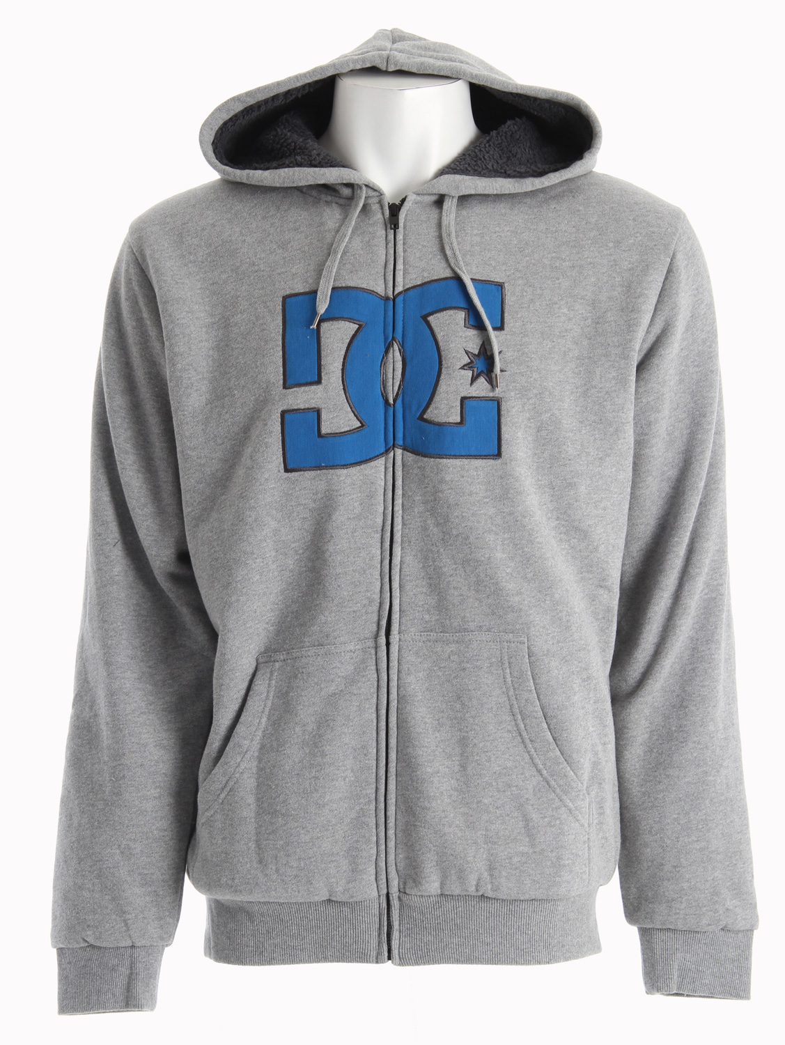 Skateboard Key Features of the DC Jammer Hoodie: Deluxe sherpa lined hoodie Twill logo applique 80% cotton/ 20% poly - $47.95
