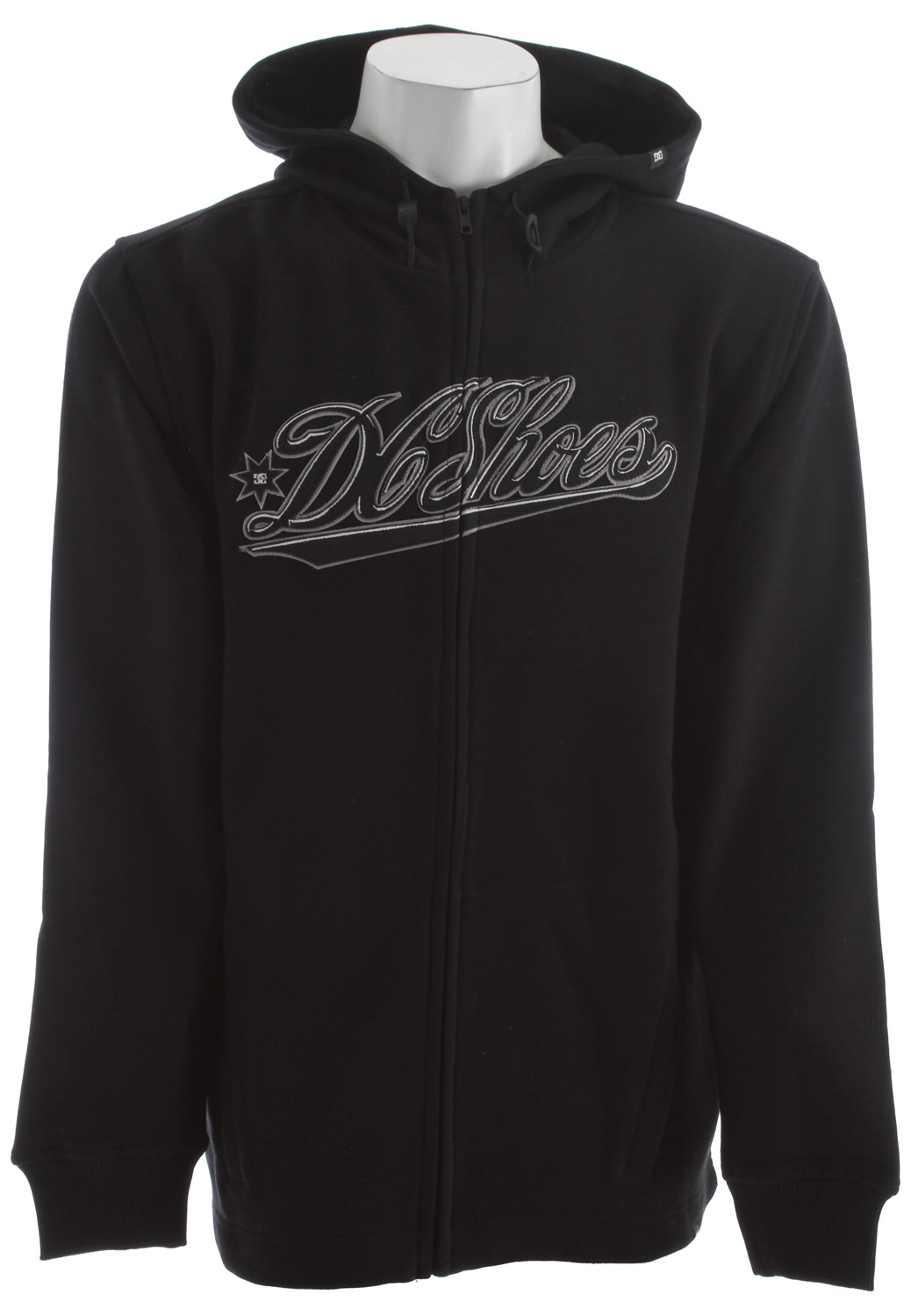Skateboard DC's Riders fleece zipup hoodie will make you want to clean up your late model sedan and join a car club.* Fleece * Logo, Graphic * Hooded * Full Zip * Regular Fit * 2 Exterior Front Pockets * Midweight Insulation - $32.95