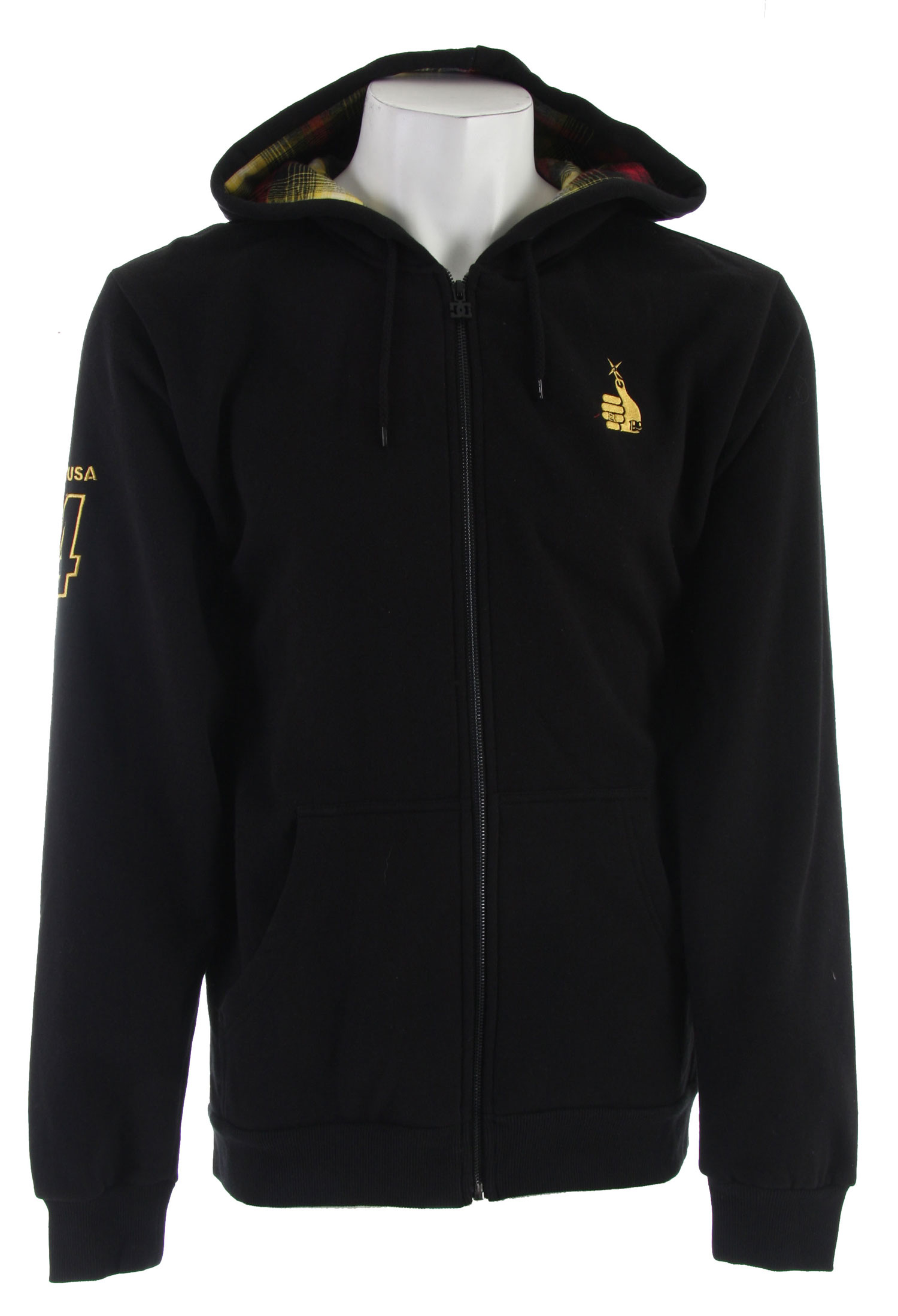 Skateboard Key Features of the DC Showdown Fullzip Hoodie Black:80% cotton, 20% polyester 280gm fleece. - $37.95