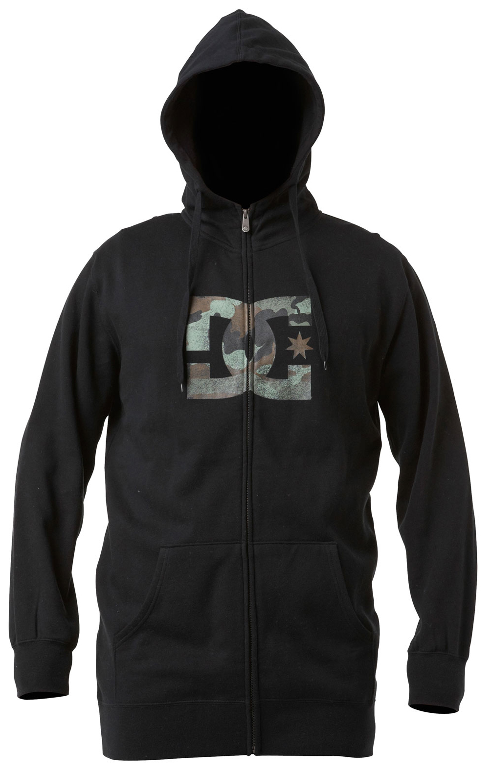 Skateboard Long fit full zip hoodie fleece with dc filled logo print on body.  Fit: long fzh   80% cotton / 20% polyester 280g fleece - $30.95