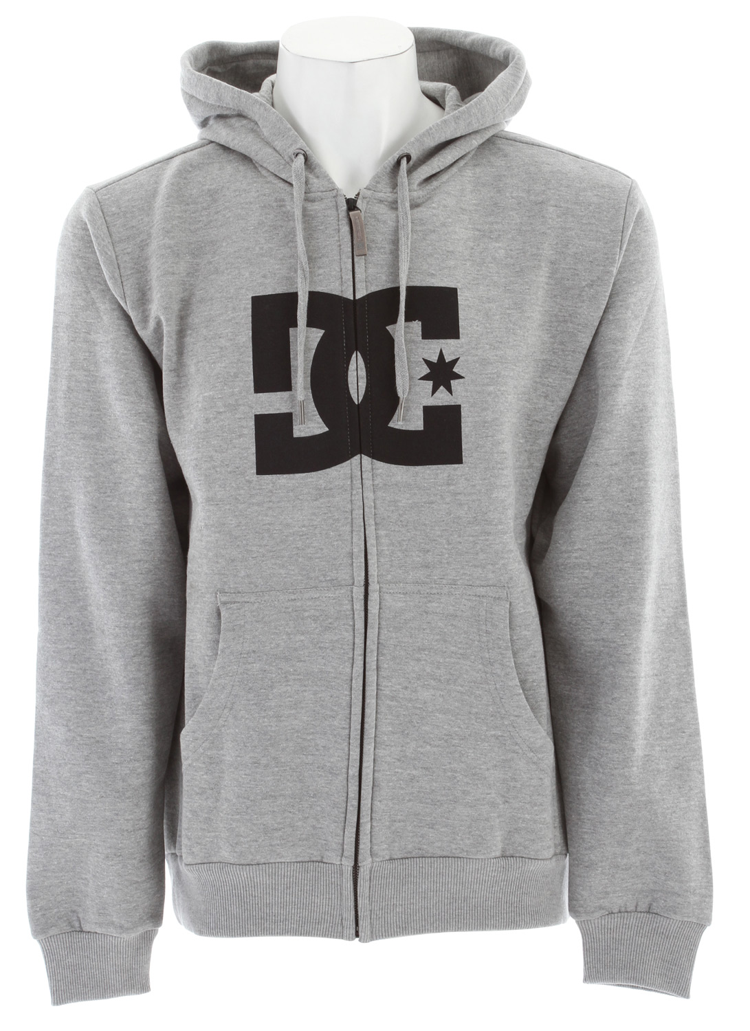 Skateboard Key Features of the DC Star ZH1 Hoodie: Standard Fleece Fullzip with softhand plastisol print at chest Custom trim package 80/20 cotton poly zip fleece - $35.95