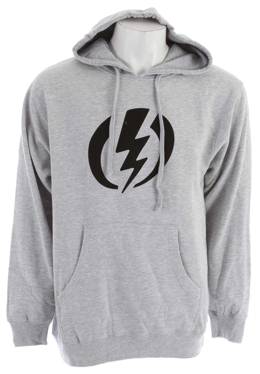 Key Features of the Electric Standard Volt Pullover Hoodie: Men's Hooded Fleece Screen Print 280 gram, 84% Cotton / 16% Polyester - $45.95