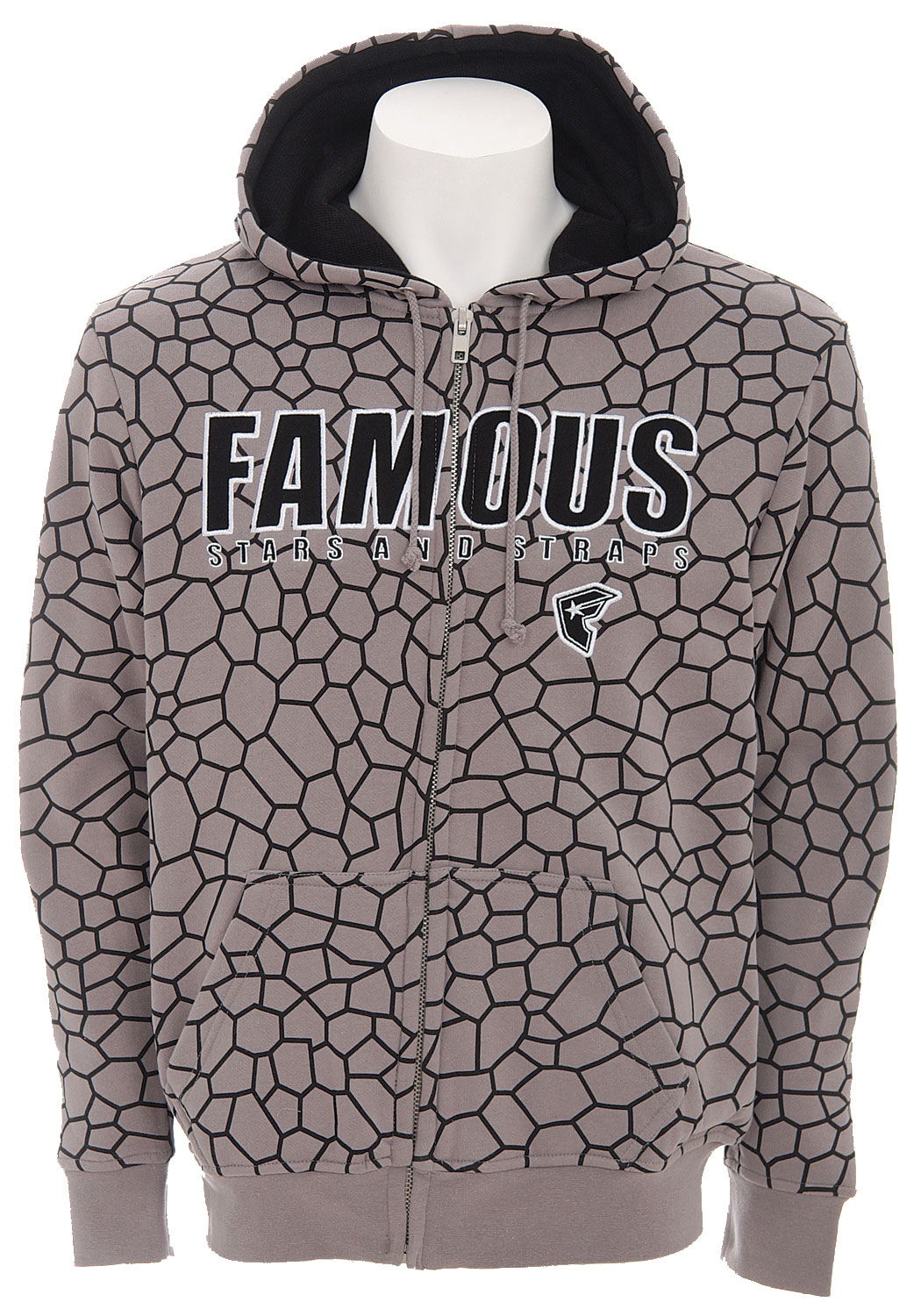 The Famous Stars Black Widow Hoodie. - 80% Cotton, 20% Polyester / 550Gram Heavy Weight Fleece with Thermal Lining - $39.95